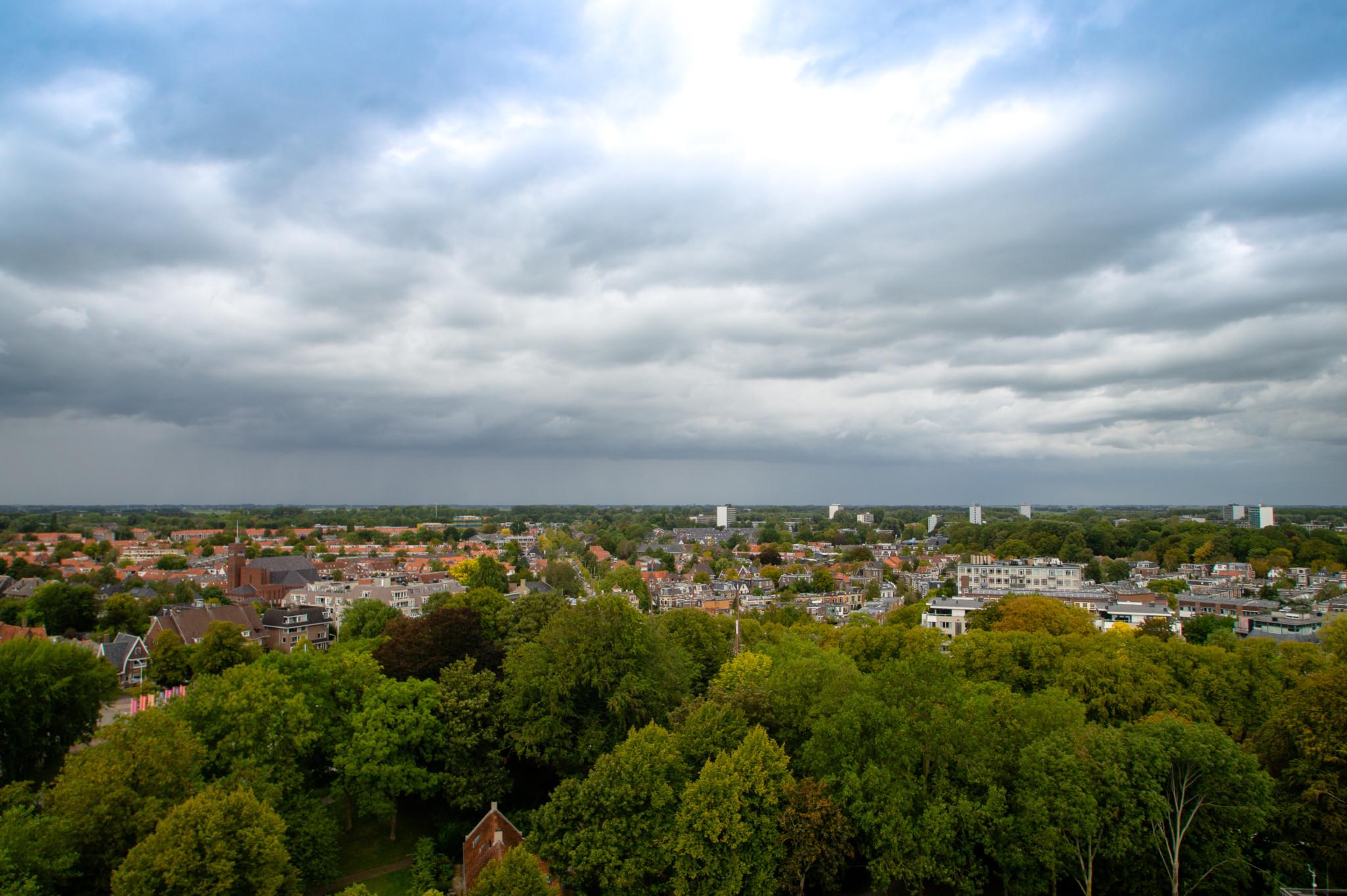 Ausblick über die Landschaft rund um Leeuwarden