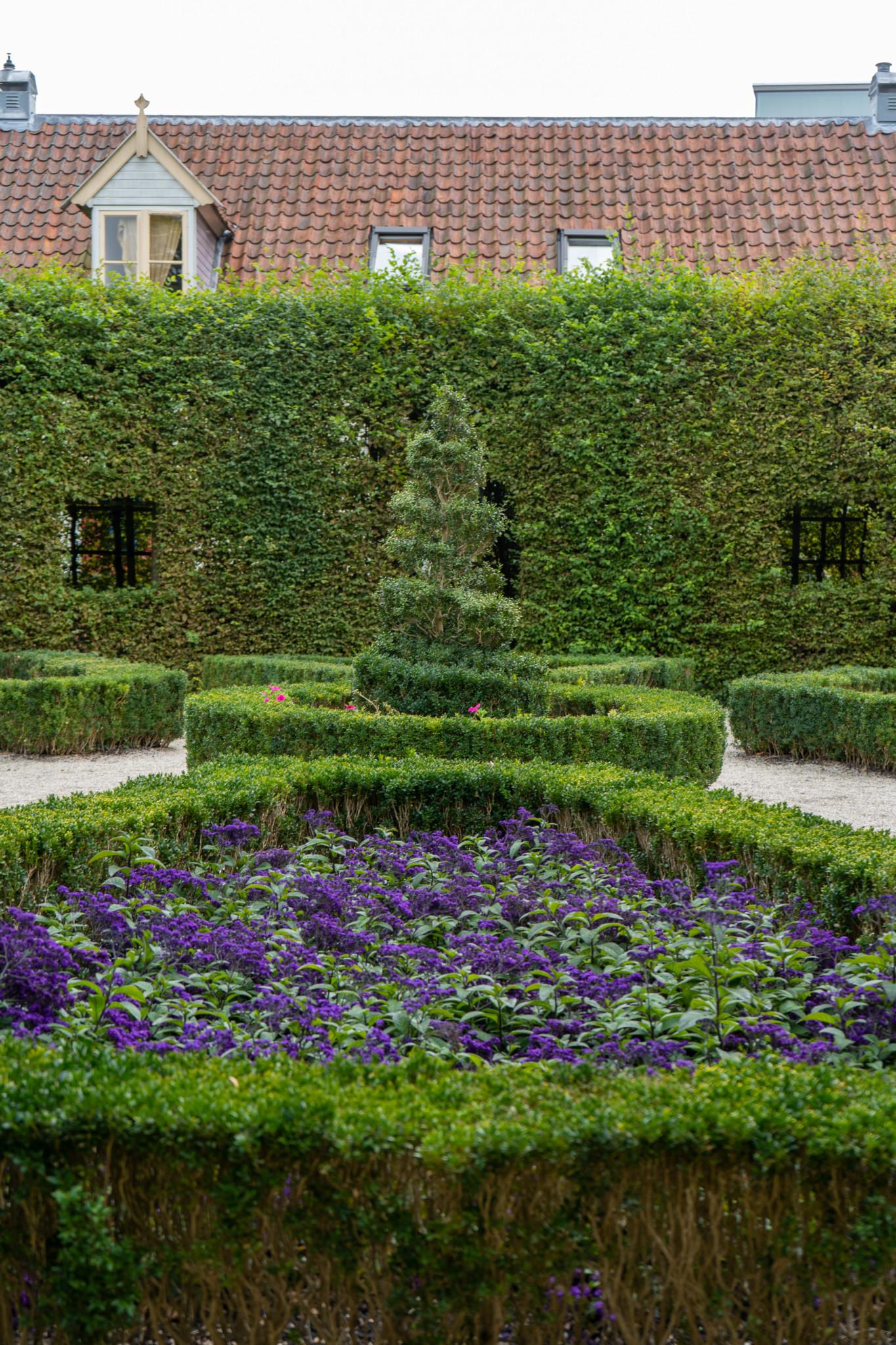 Hübsche Gartenanlage im Prinsenhof in Groningen