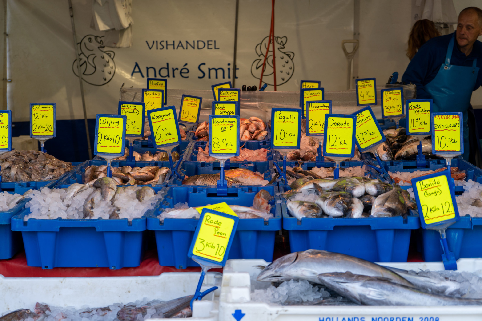 Frischer Fisch auf dem Vismarkt