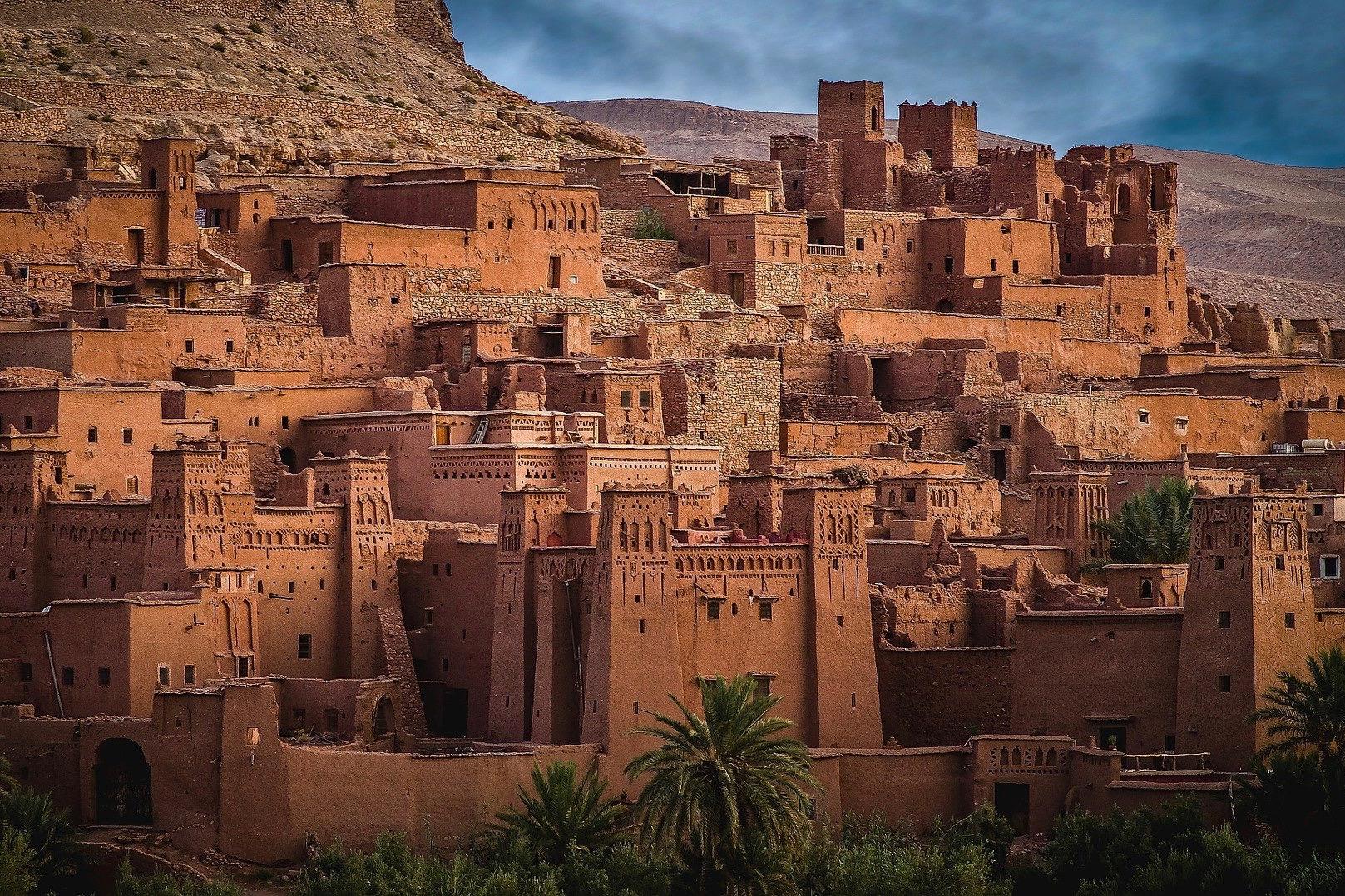 Höhlengebäude in Marokko