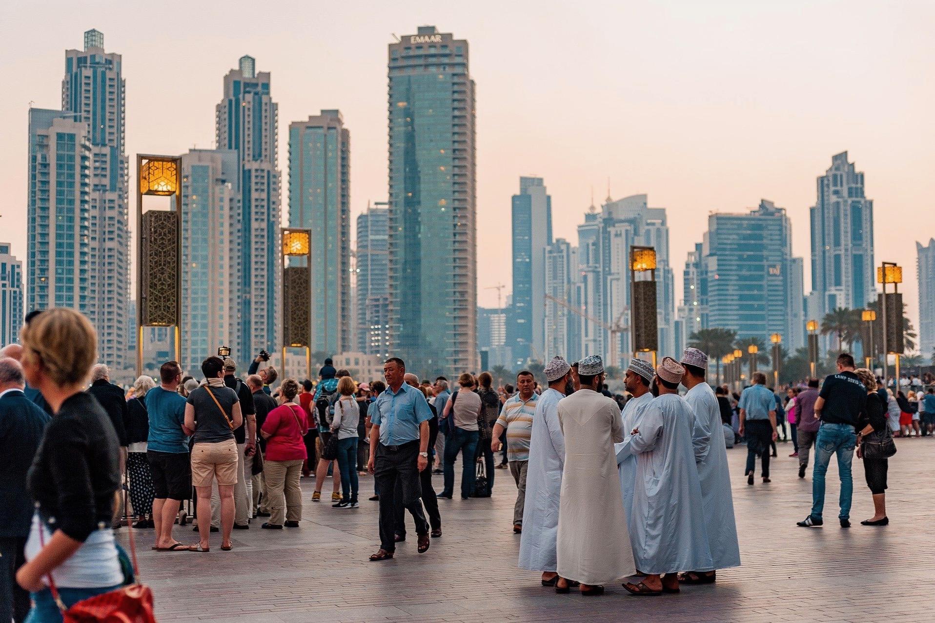 Geheimnisvolle Szene in den Vereinigten Arabischen Emiraten