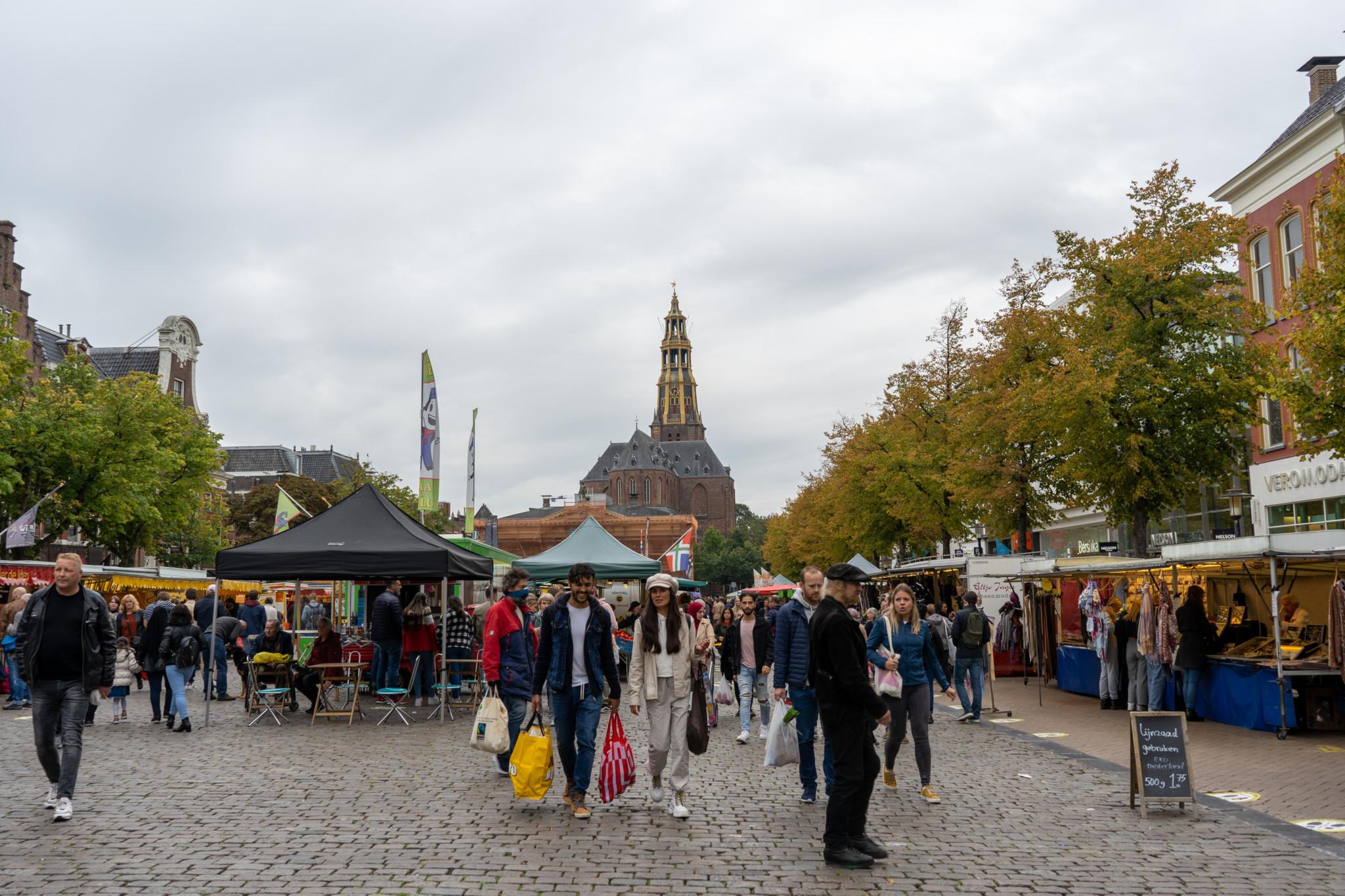 Markt auf dem Grote Markt in Groningen