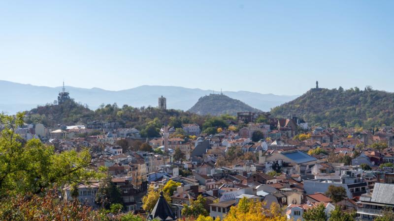 Ausblick über Plovdiv