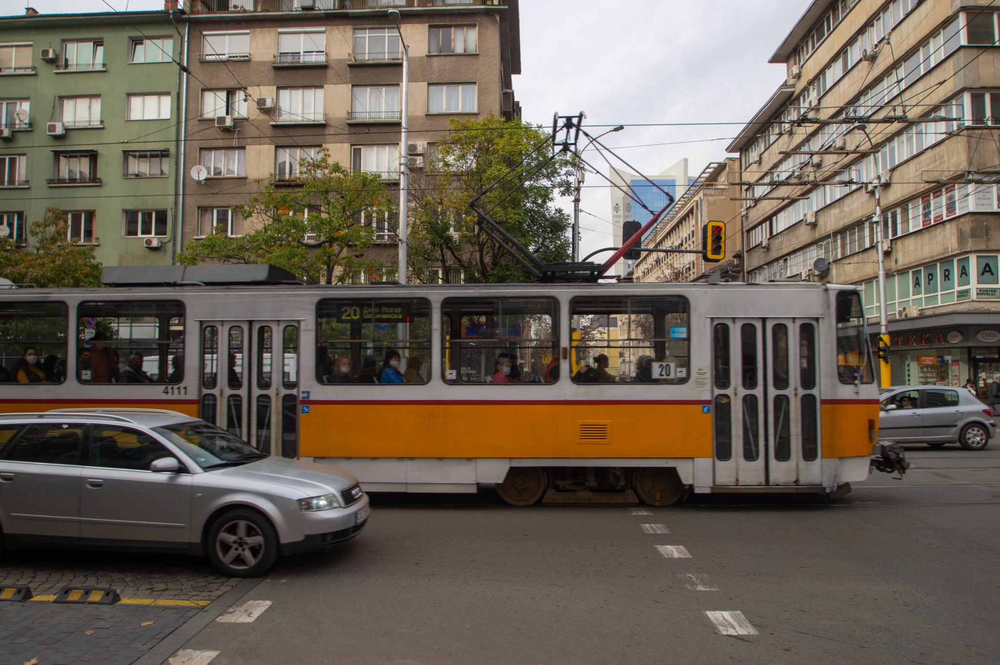 Alte Straßenbahn in Sofia in Bulgarien