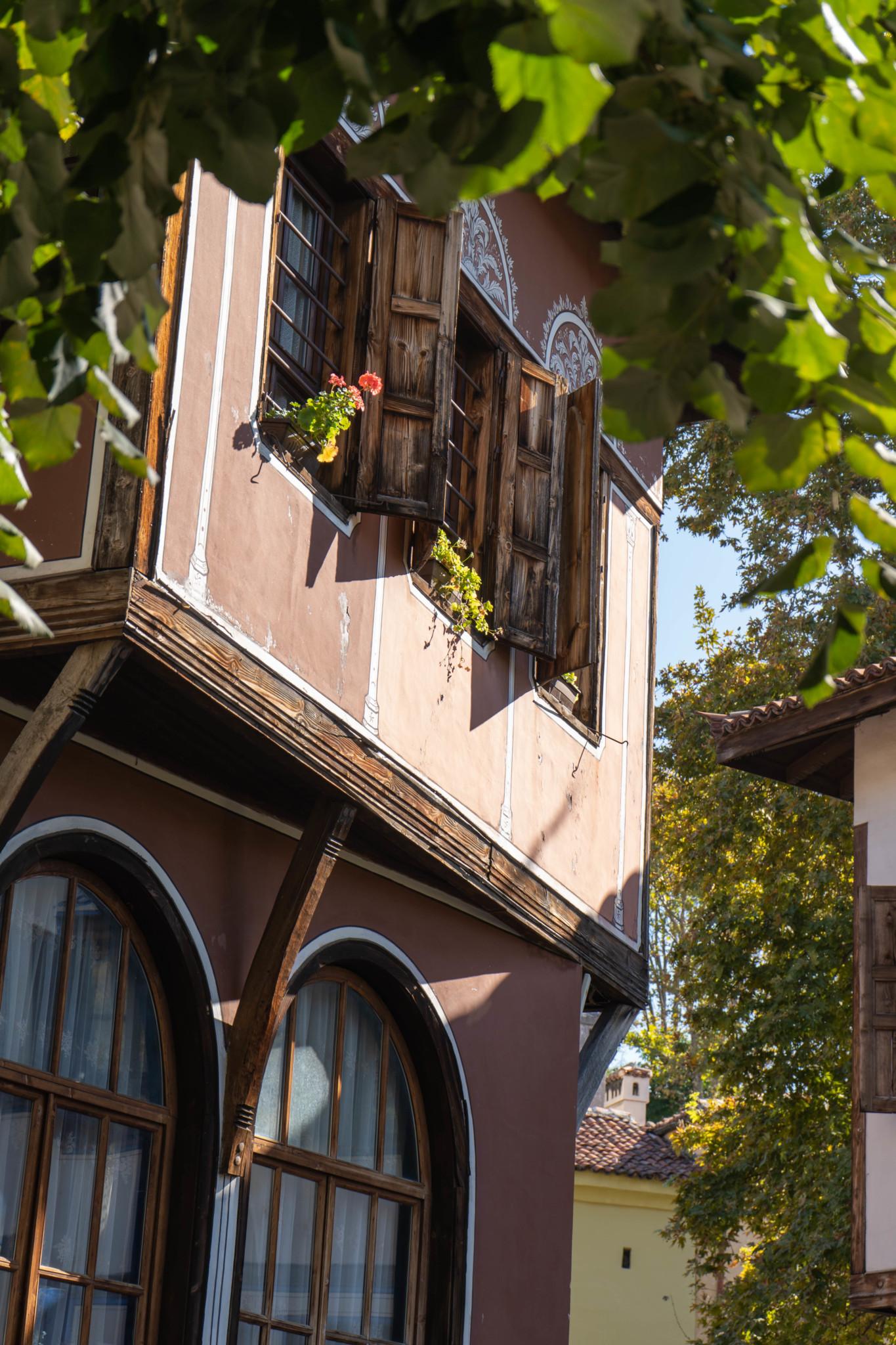 Architektur der Wiedergeburtshäuser in Plowdiw