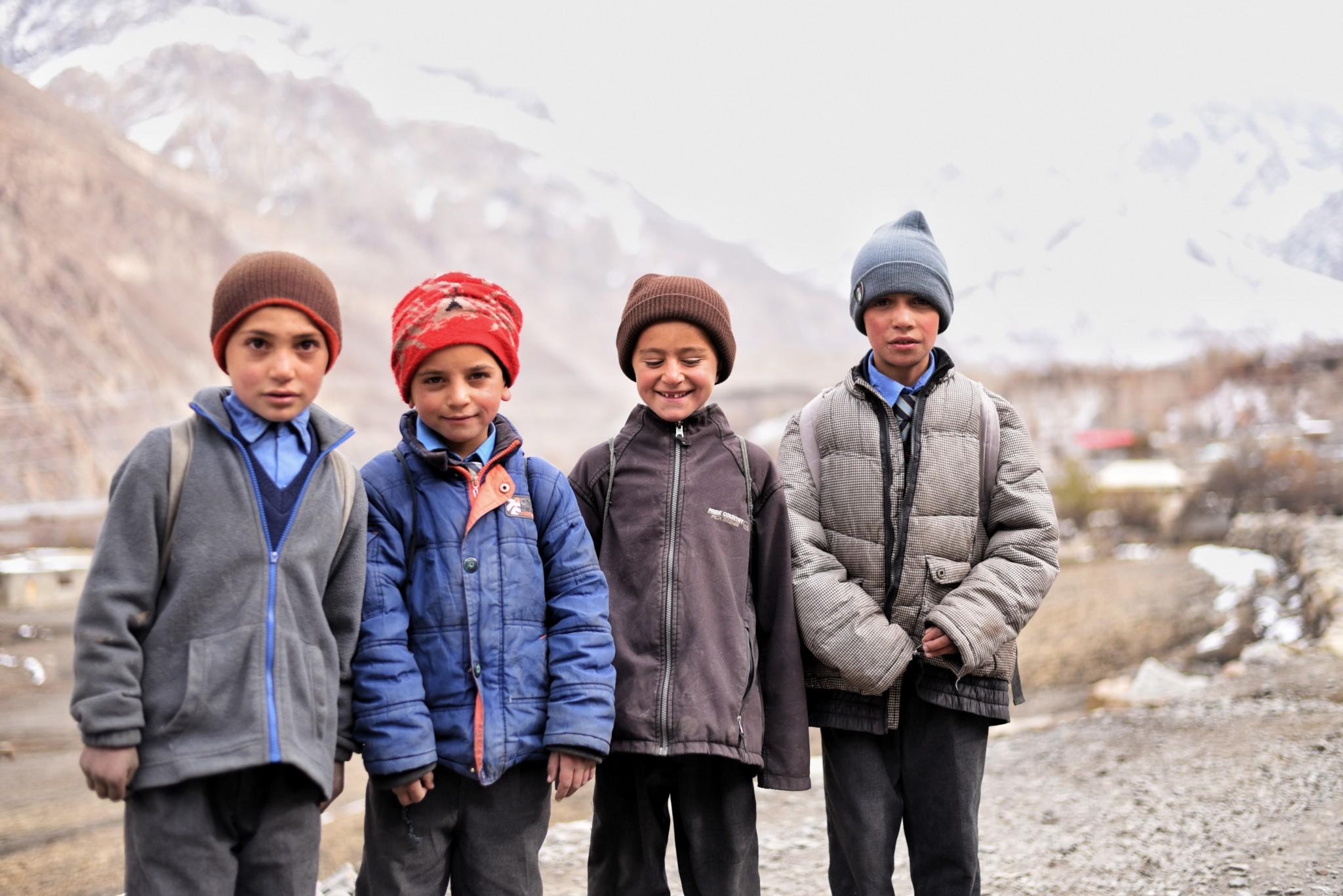 Kids im Norden Pakistans