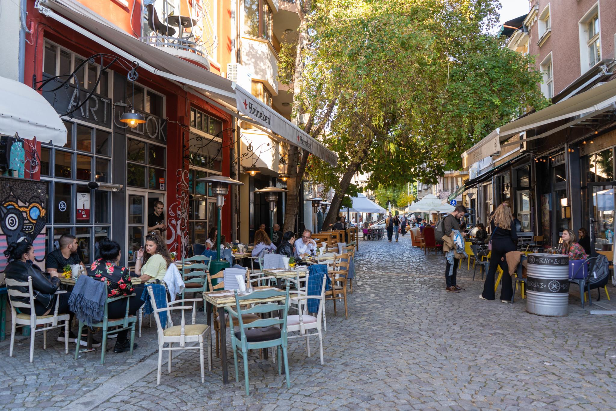 Hippes Viertel Kapana in Plovdiv