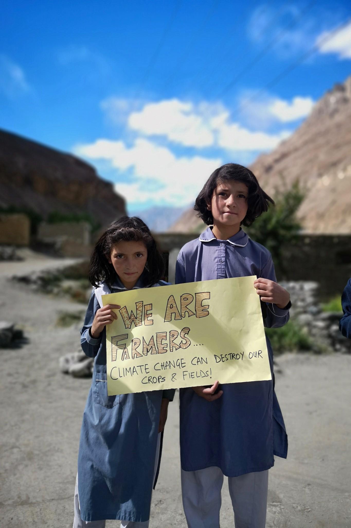 Bauernkinder im Norden Pakistans