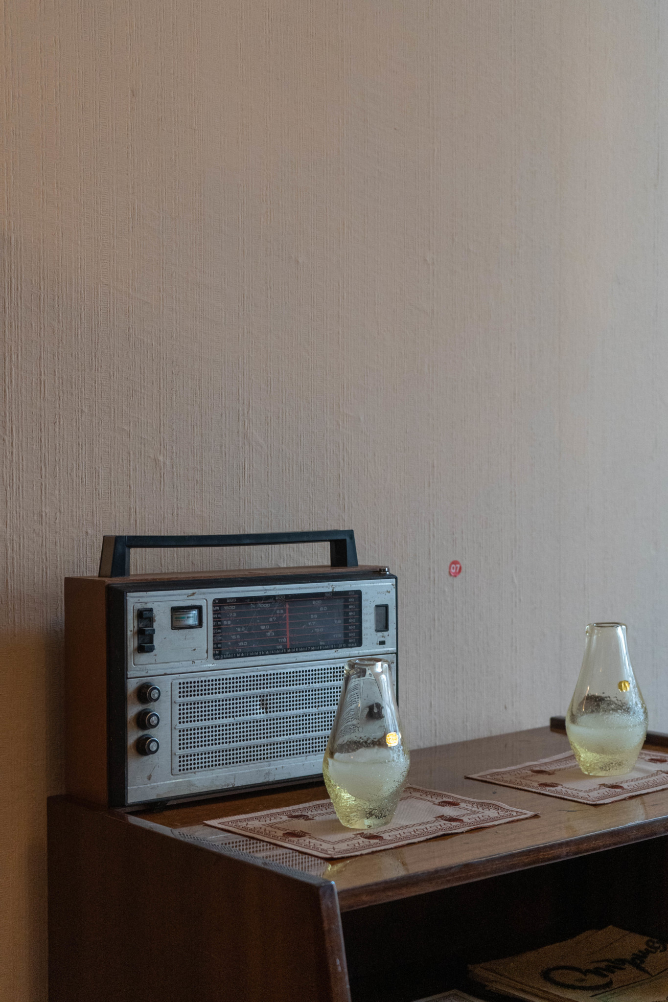 Altes Radio in der Red Flat in Sofia