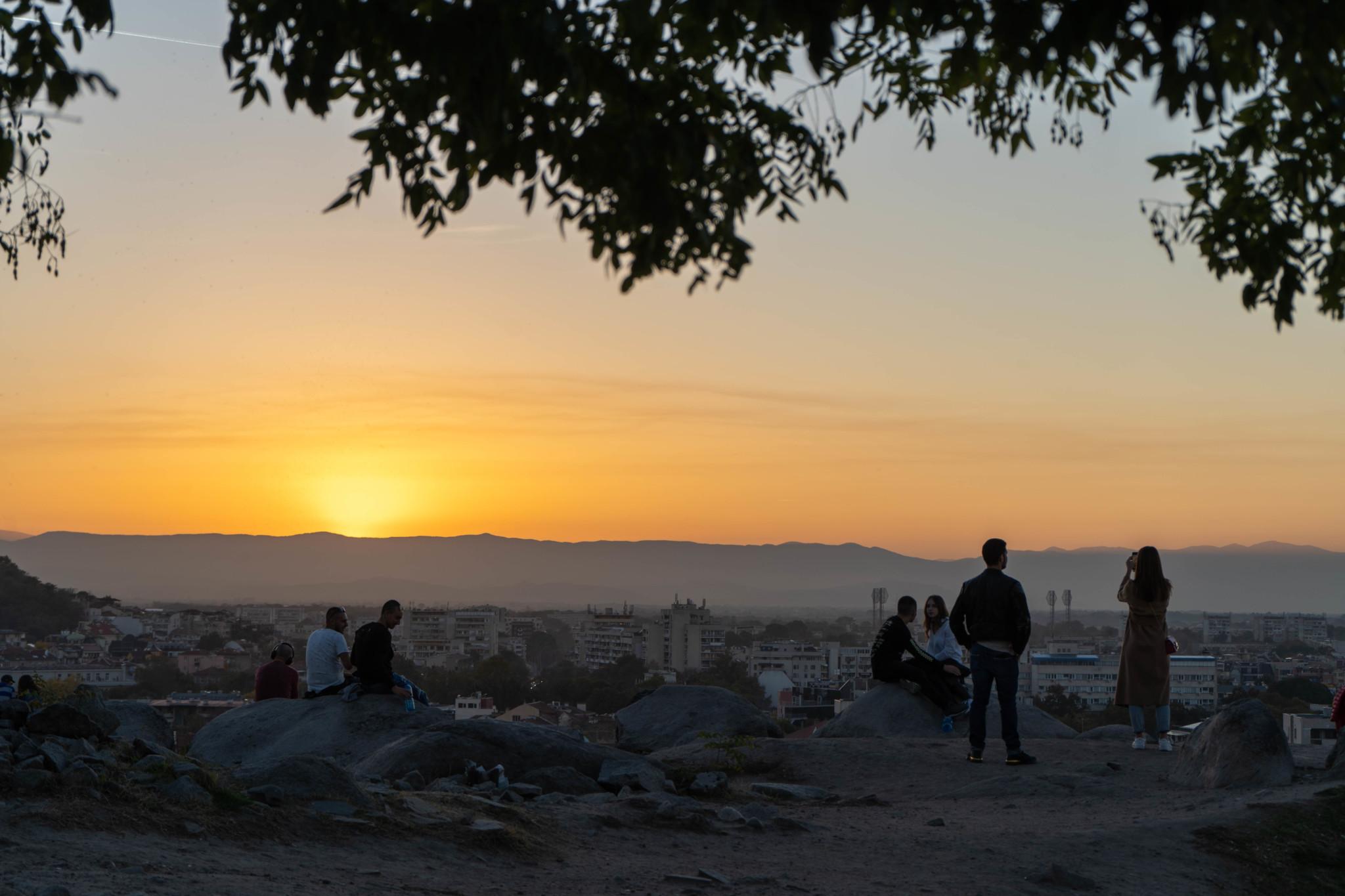 Sonnenuntergang auf dem Nebet Tepe