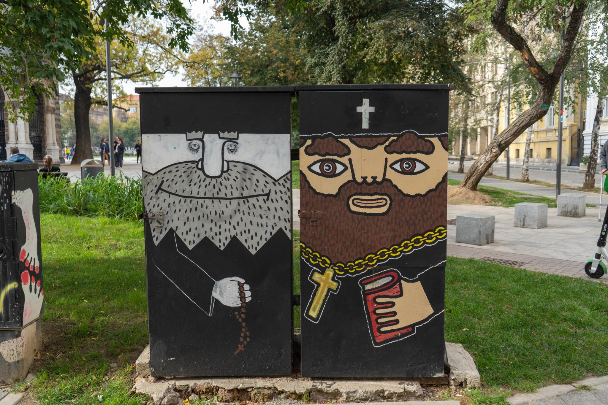 Berühmte Streetart in Sofia