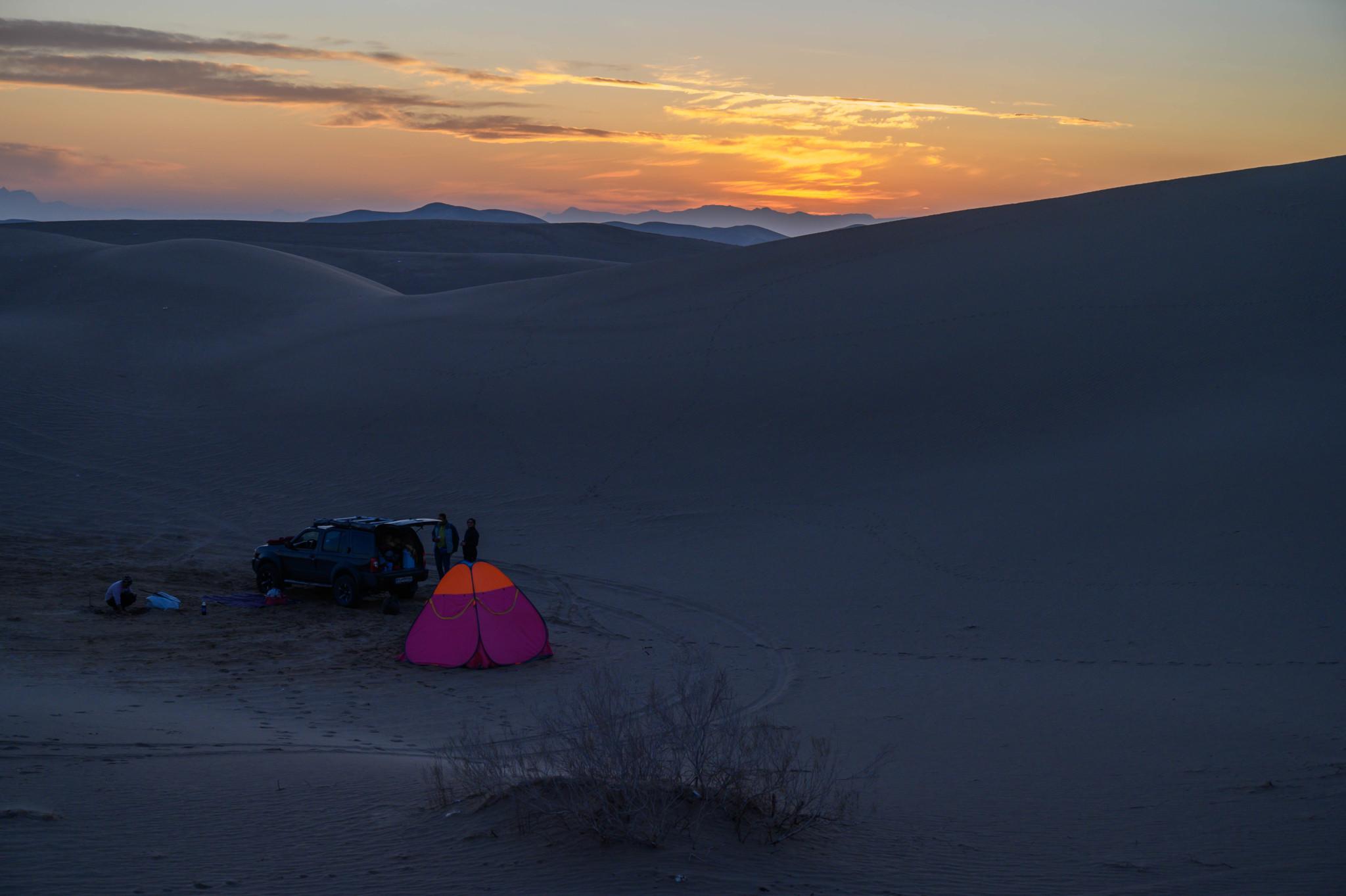 Zelt in der Wüste Varzaneh