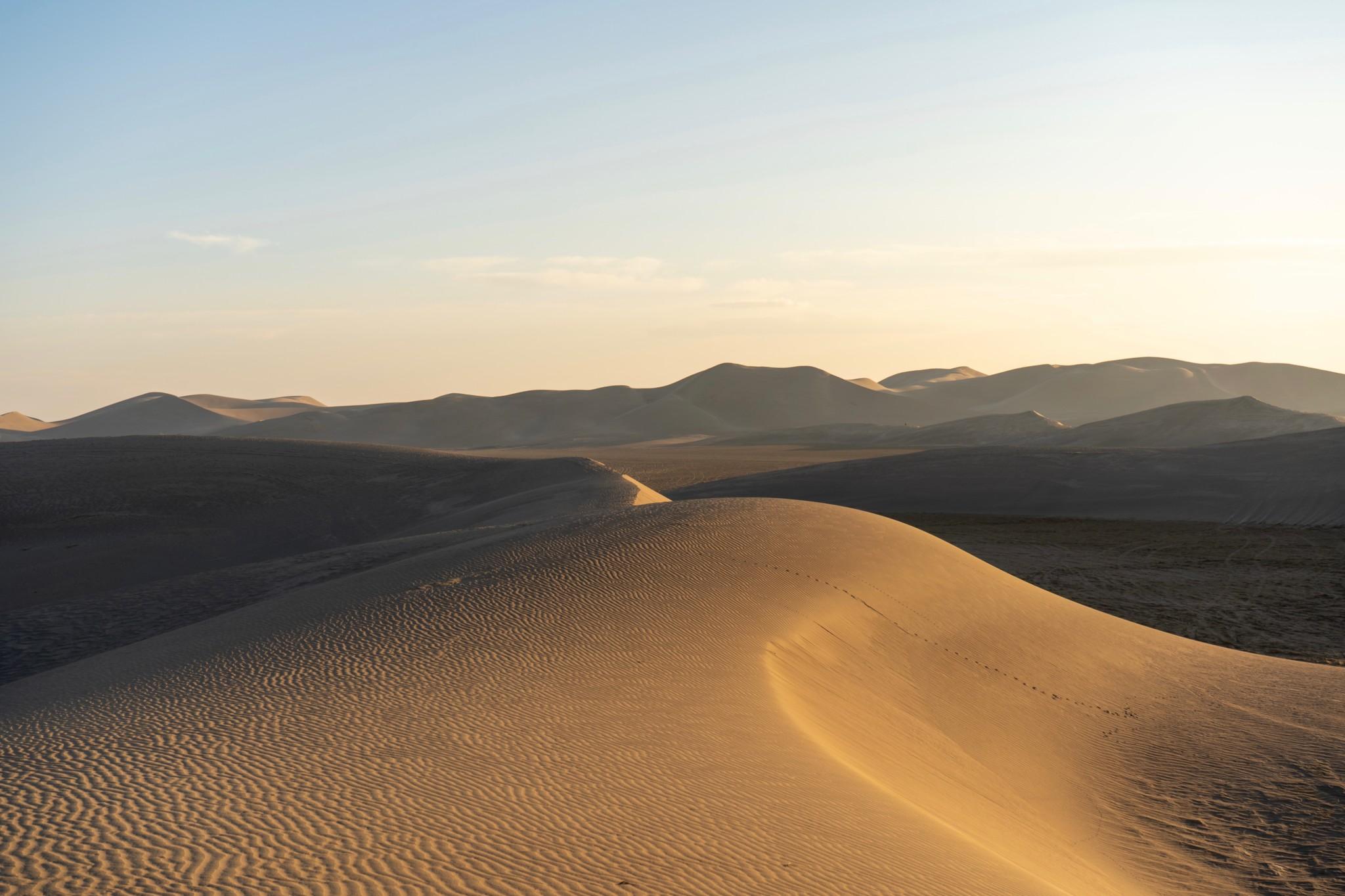 Sanddünen in der Varzaneh Wüste im Iran