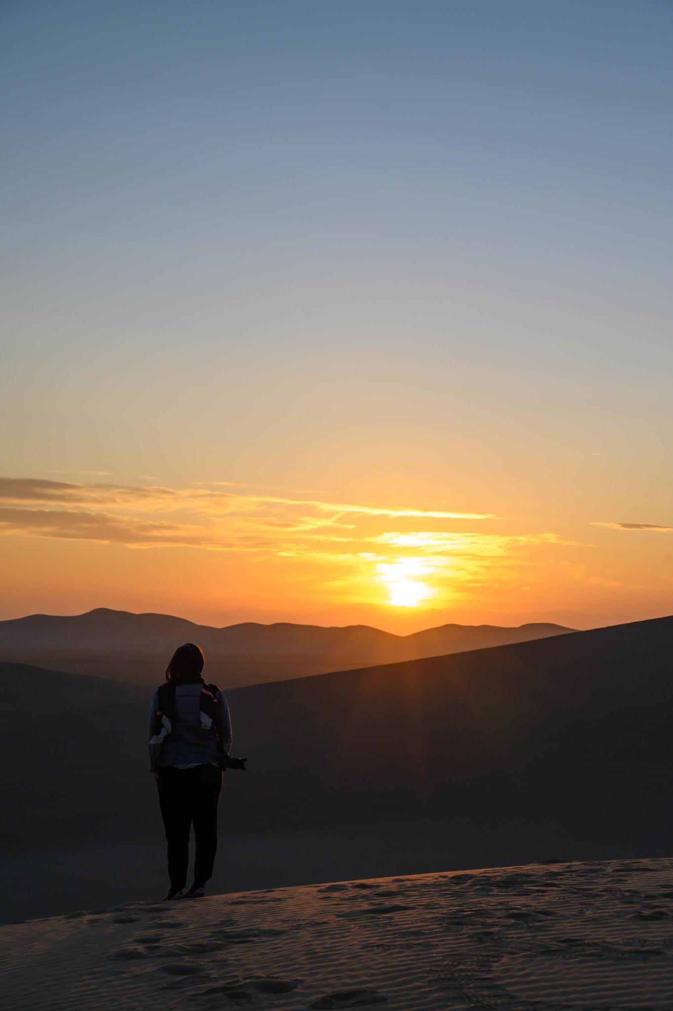 Sonnenuntergang Varzaneh Wüste