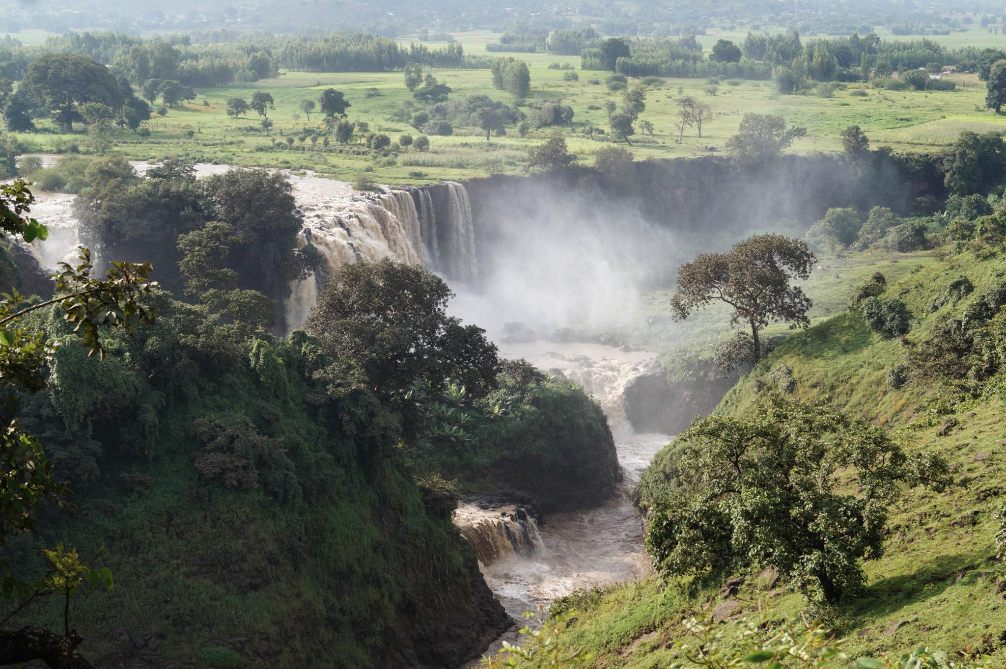 Der Blaue Nil fließt durch Äthiopien und kann im Februar gut besucht werden
