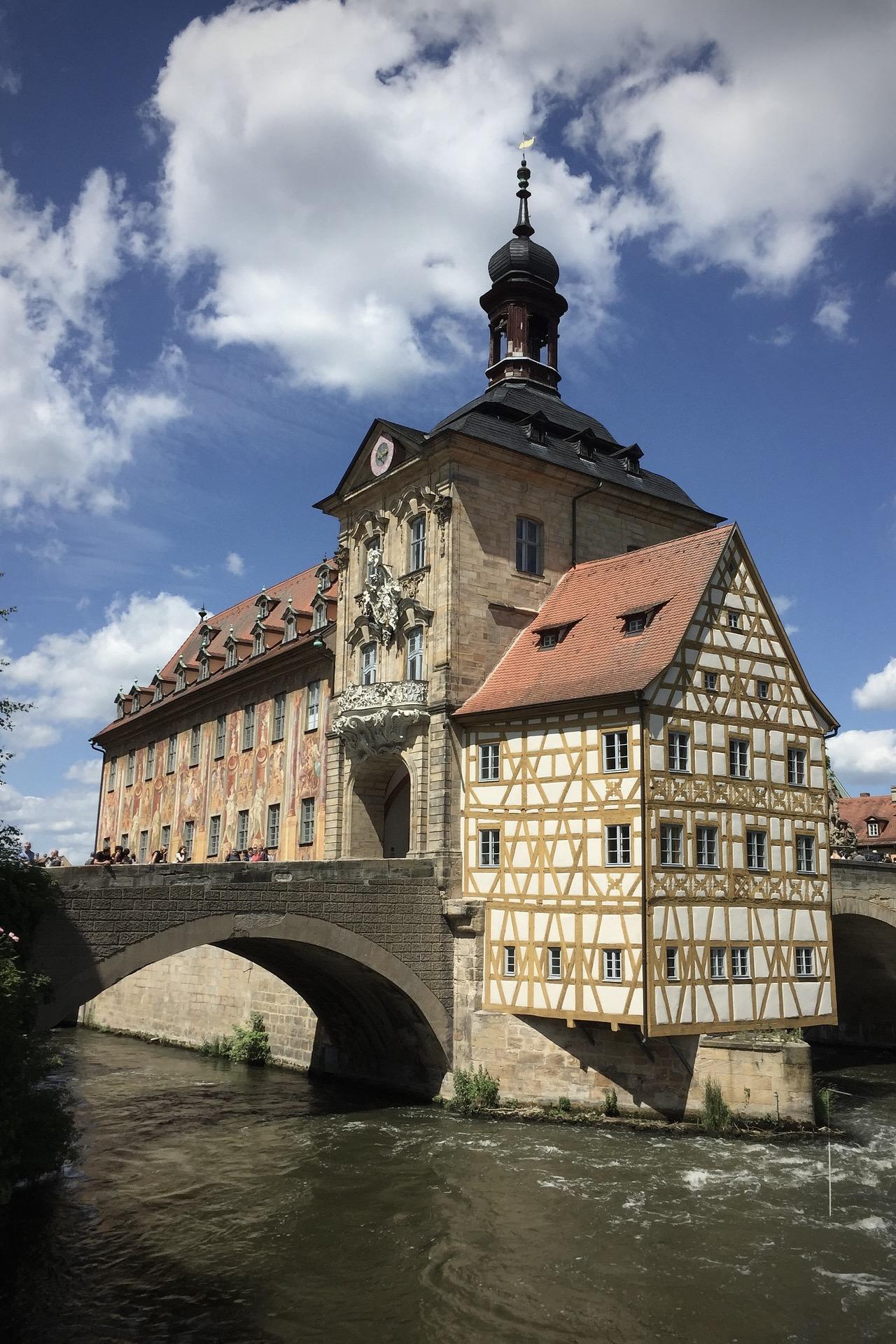 Die Altstadt von Bamberg in Bayern