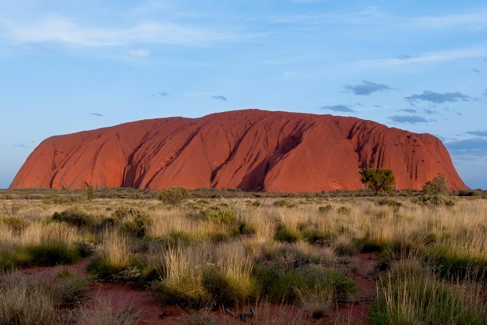 Der Uluru strahl auch im Februar ohne Ende