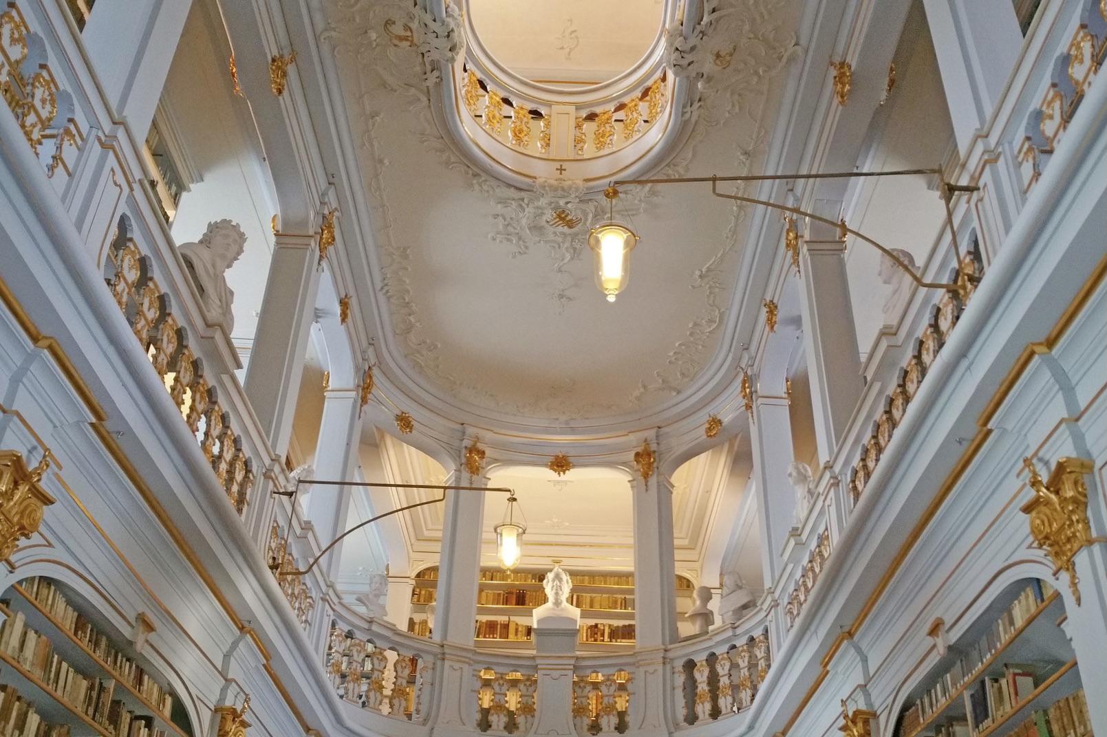 Die berühmte Bibliothek in Weimar