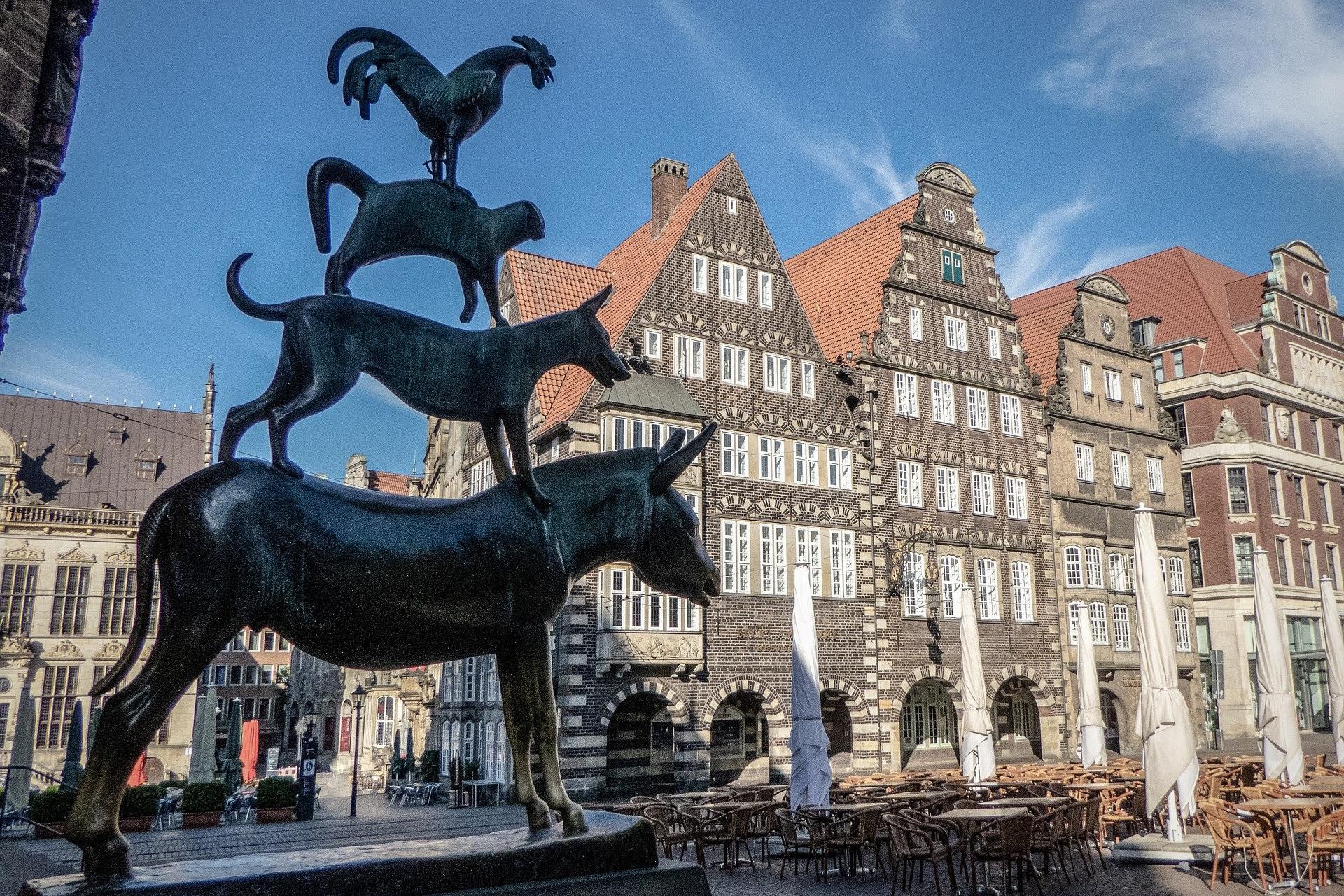 Die Bremer Stadtmusikanten sind eine der beliebtesten Sehenswürdigkeiten in Bremen