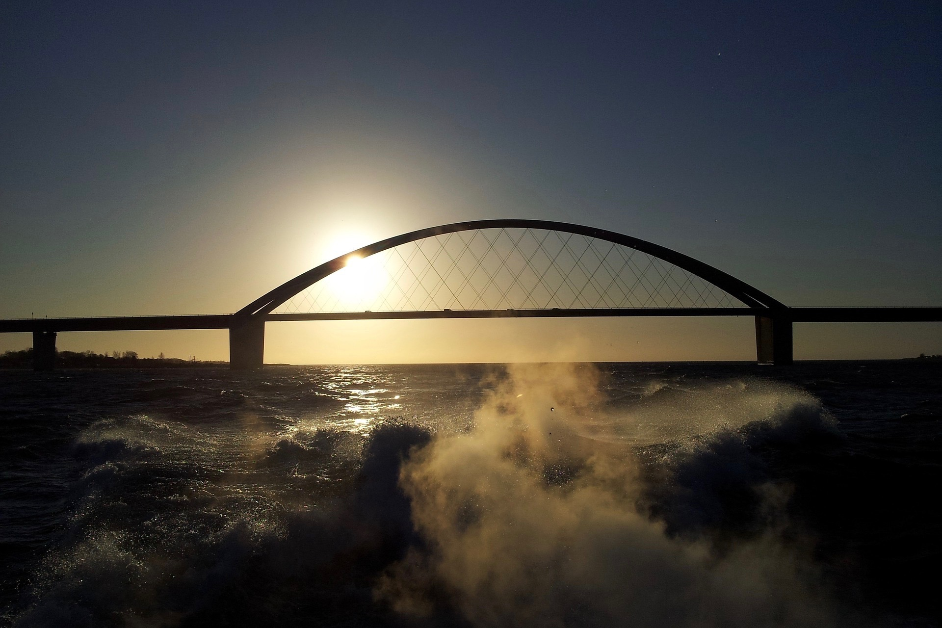 Fehmarnsundbrücke auf Fehmarn