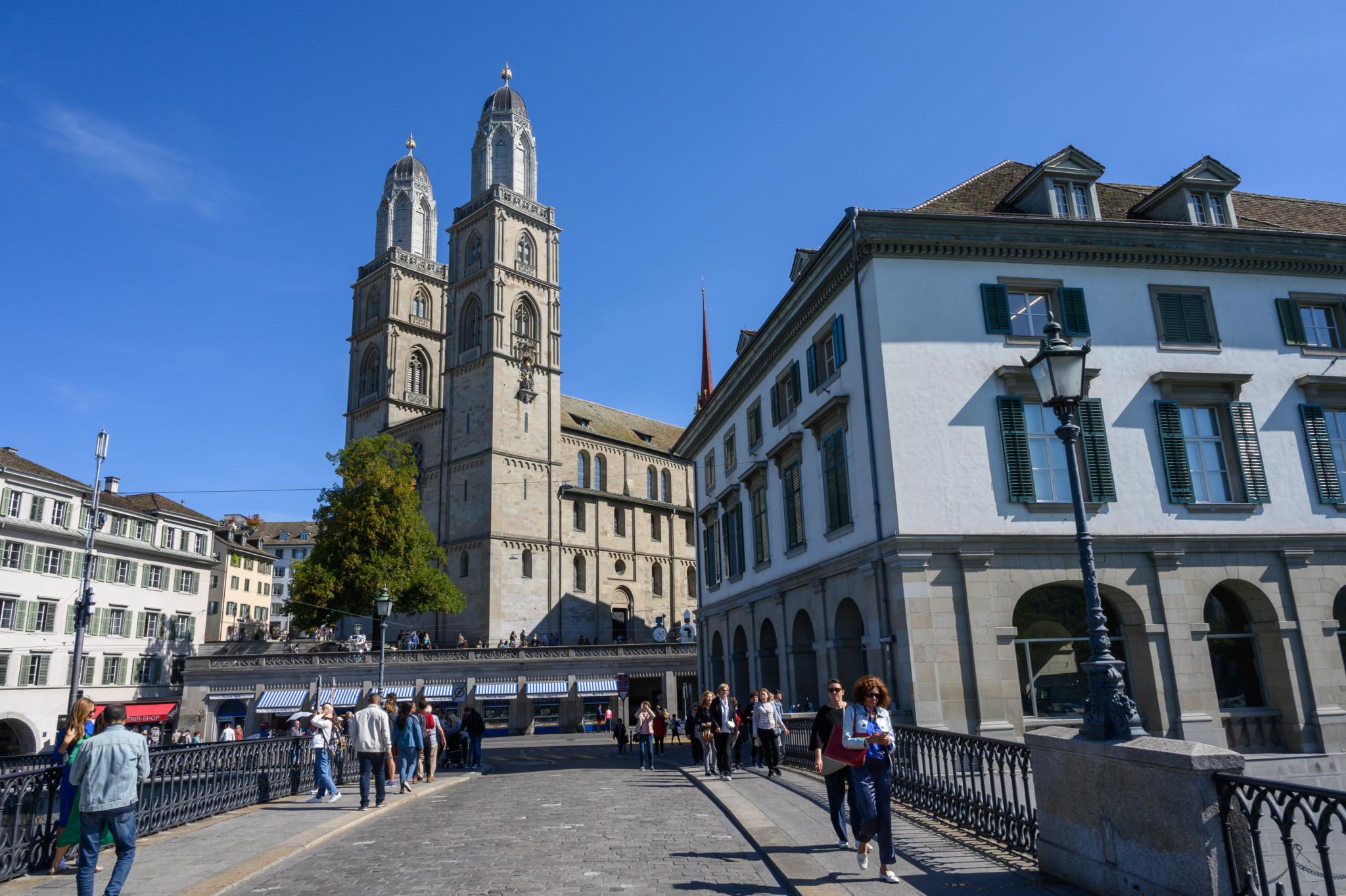 Berühmtes Grossmünster in Zürich