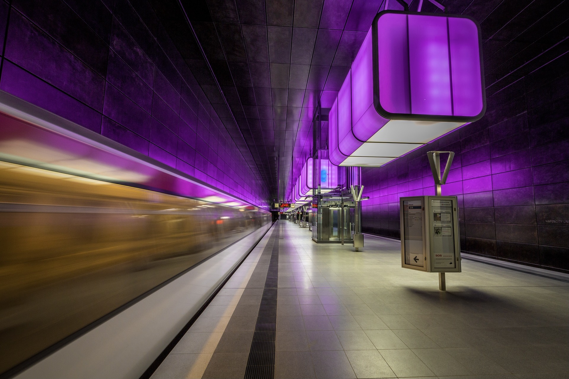 Die U-Bahn-Station Hafencity ist einer der wichtigsten Hamburg Insider Tipps für Architektur-Fans
