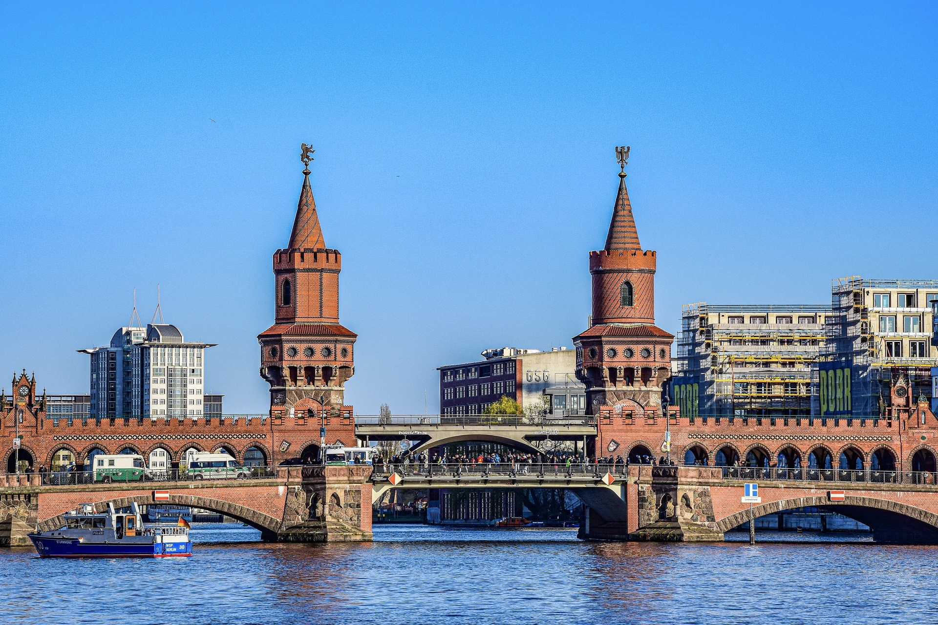 Oberbaumbrücke in Berlin Friedrichshain