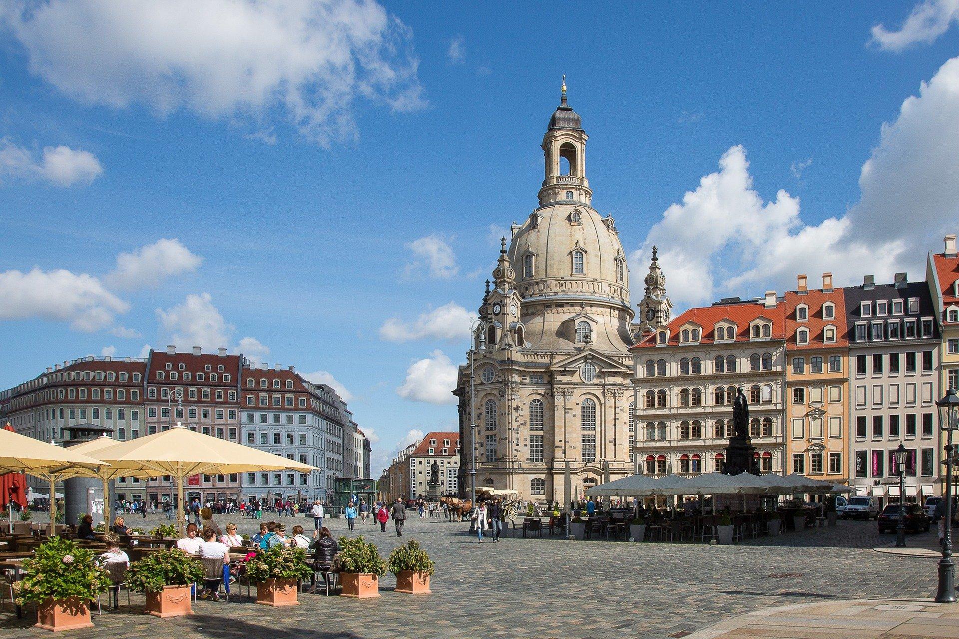 Hübsche Altstadt von Dresden