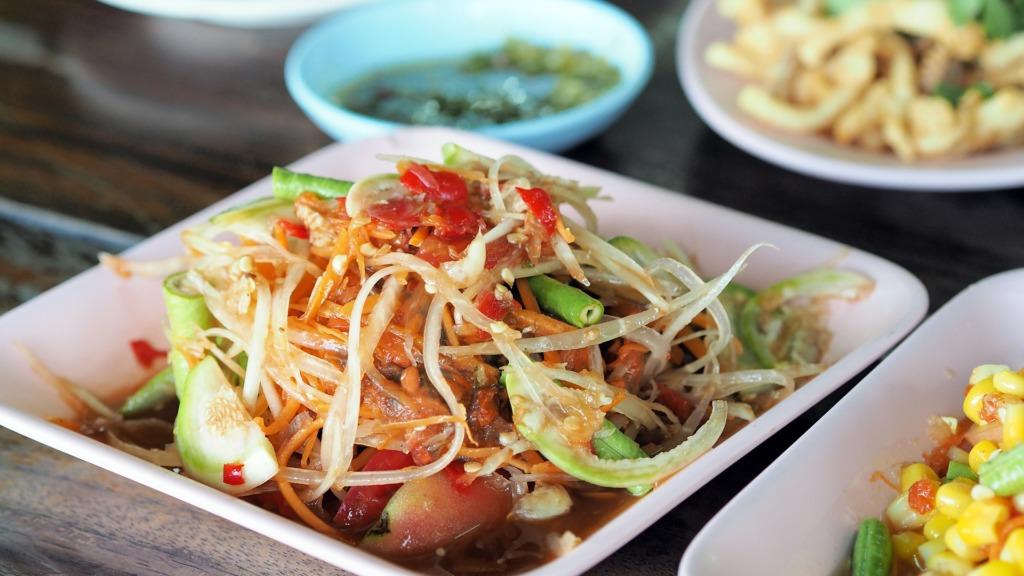 Papaya Salat aus Thailand
