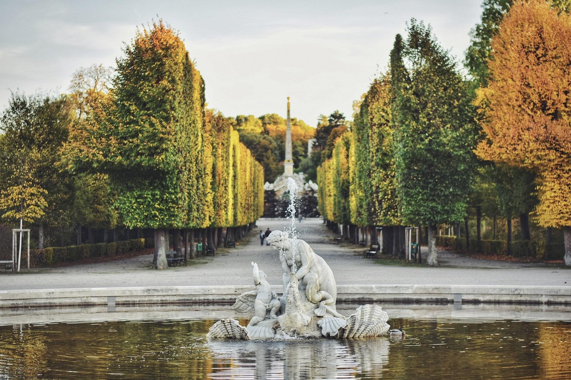 Im Herbst sind die Parks in Wien besonders schön