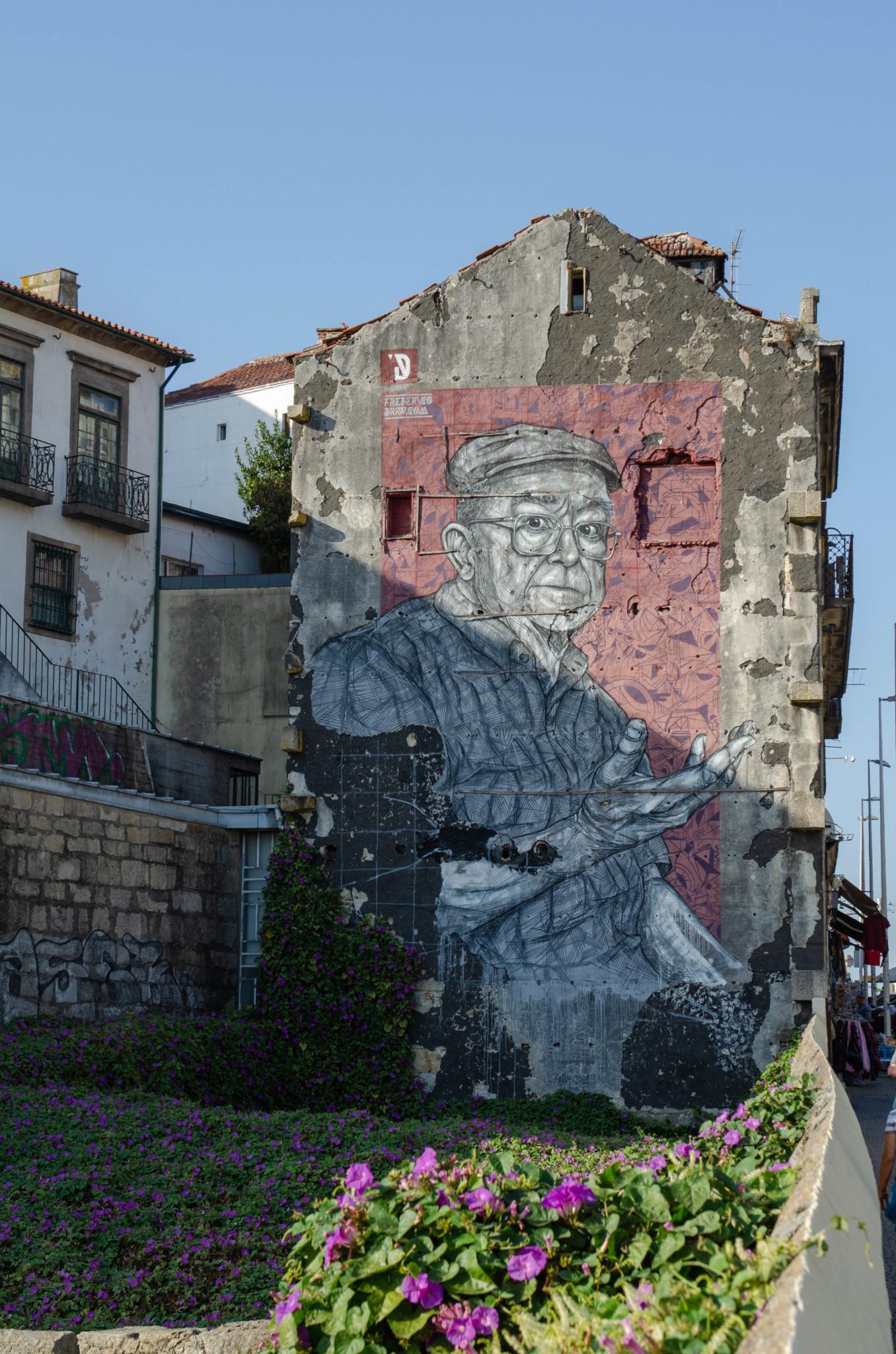 Streetart in Porto in Portugal