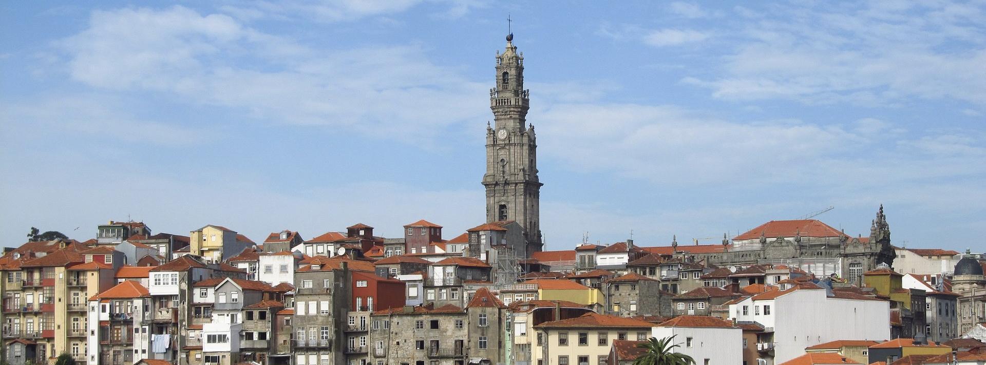 Torre de Clerigo in Porto Portugal