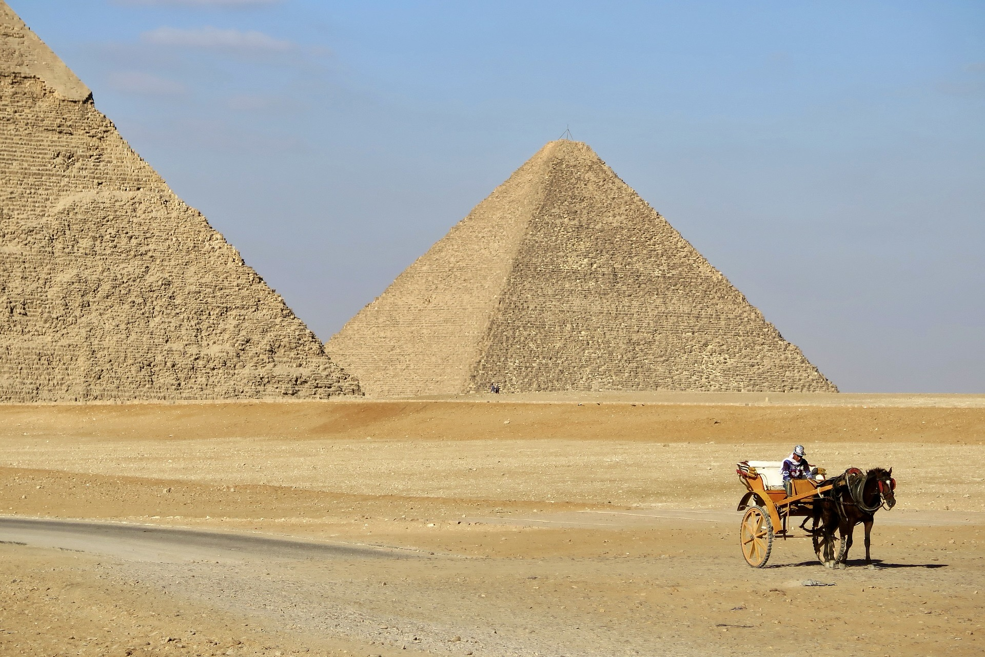 Pyramiden in Kairo in Ägypten