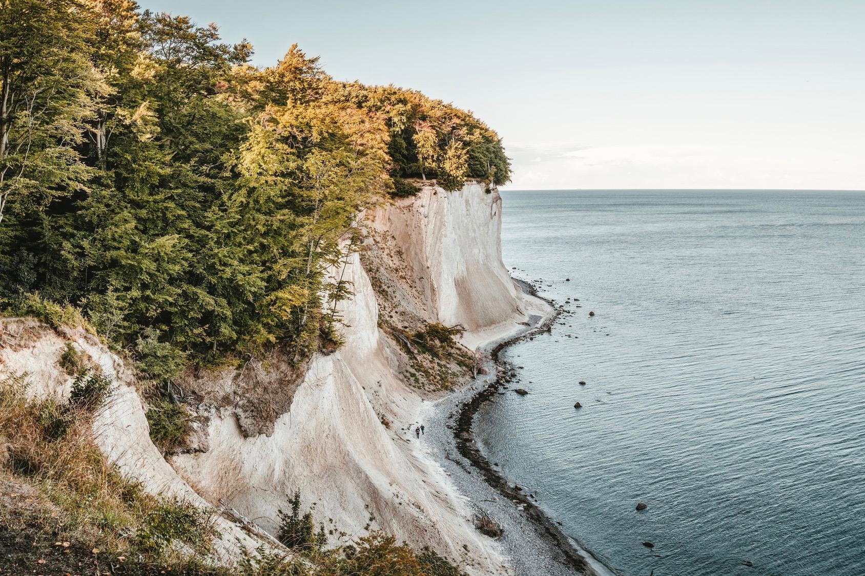 Die Kreidefelsen von Rügen sind ein Highlight auf der Insel