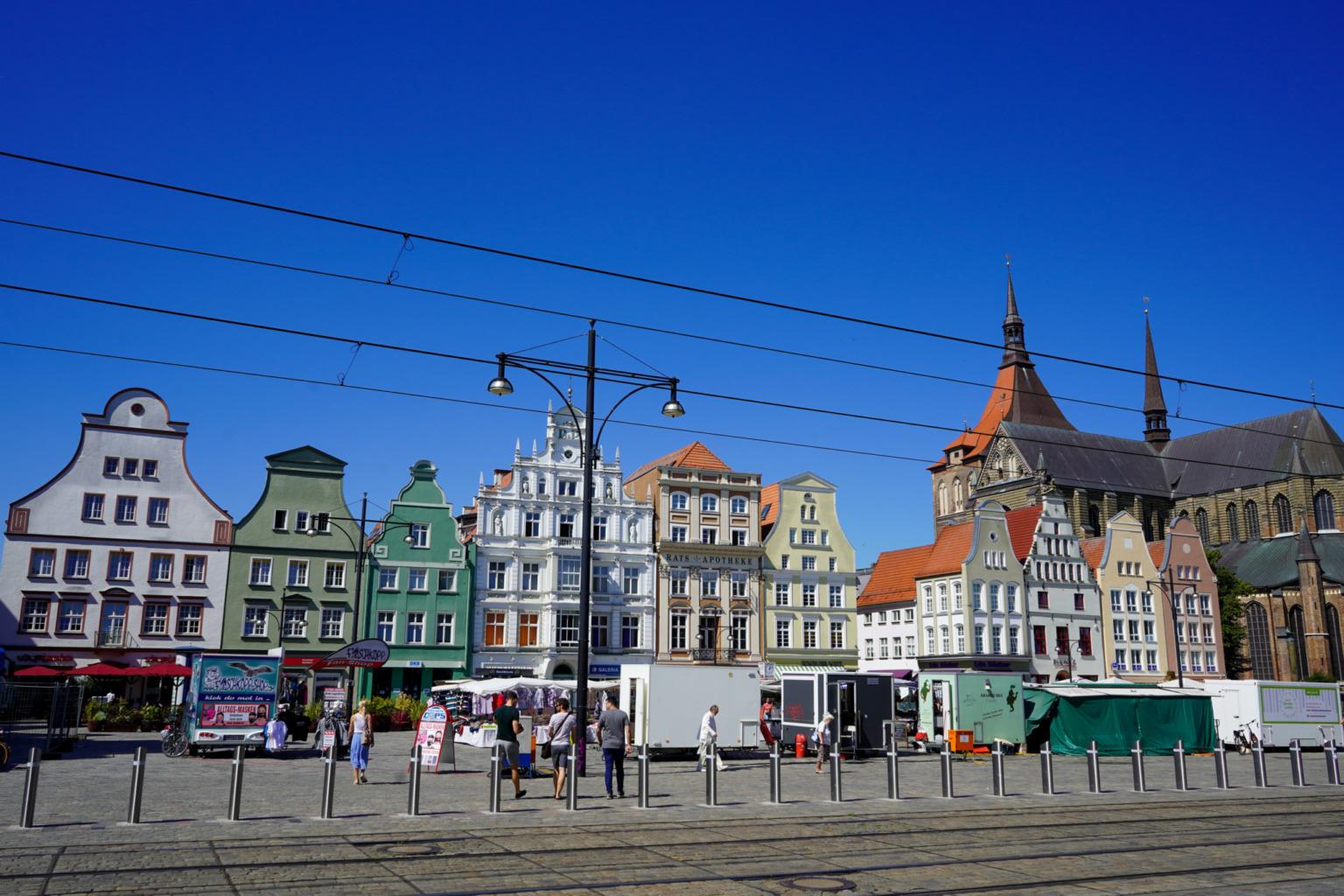 Rostock ist bekannt für die hübsche Architektur