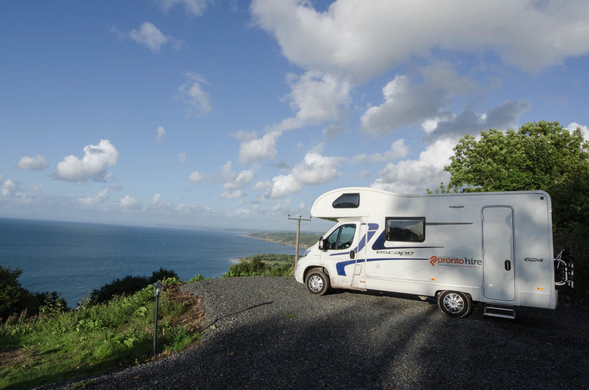 Camping in Wales klappt super