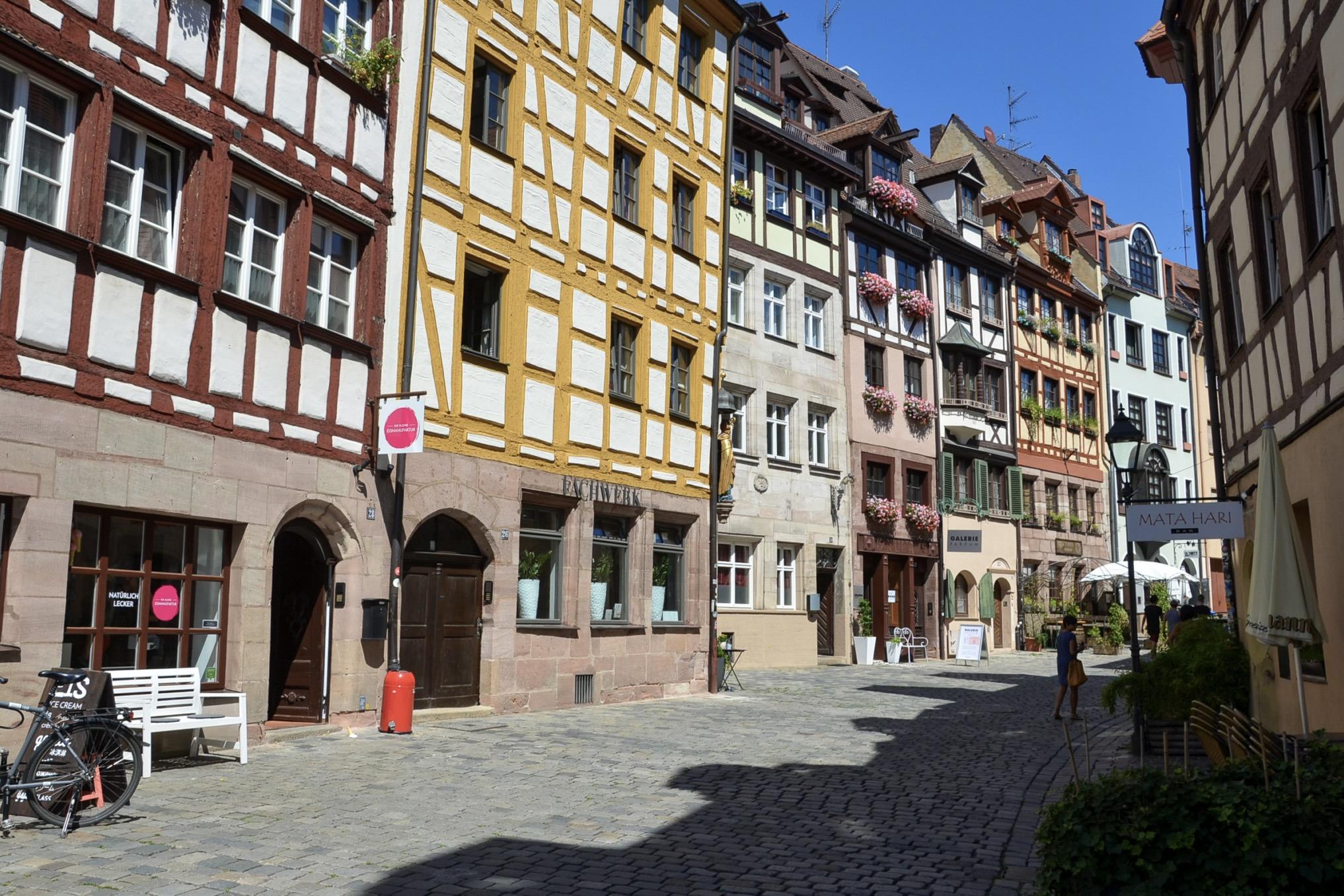 Die Weissgerbergasse in Nürnberg macht die Stadt sehenswert