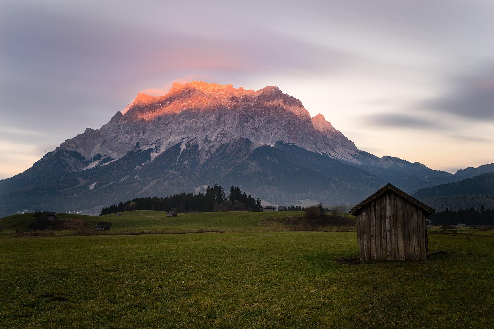 Zugspitze in Süddeutschland