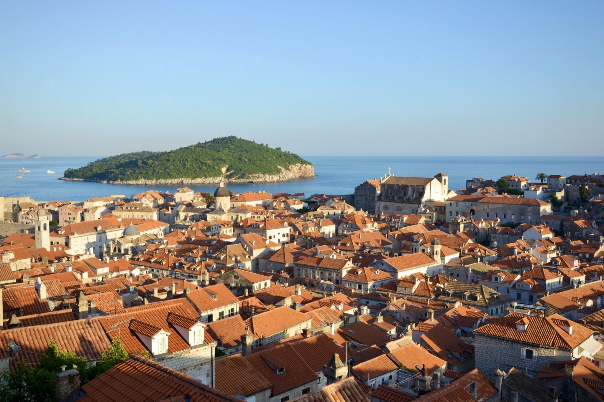 Aussicht auf Dubrovnik in Kroatien von oben