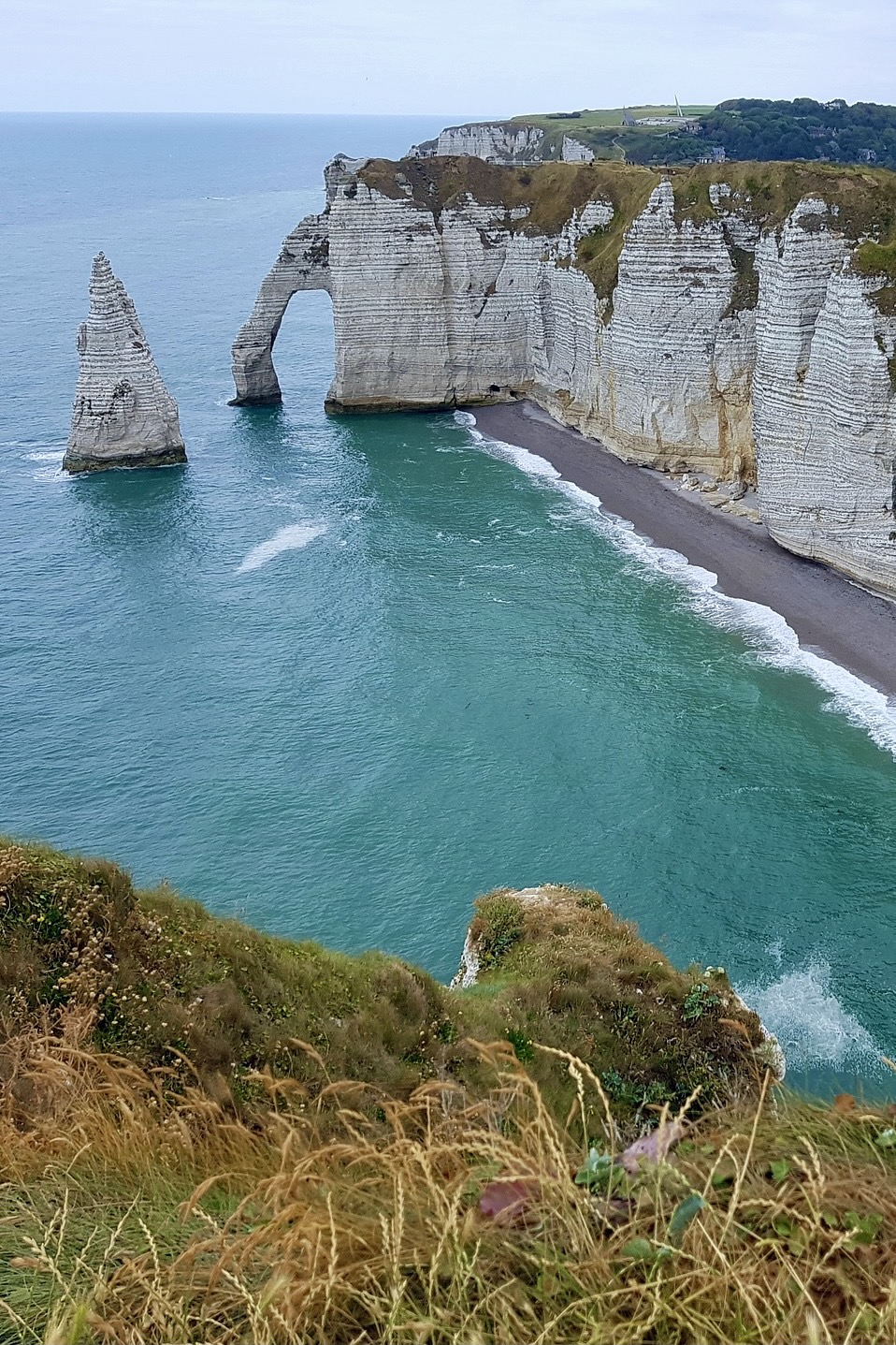 Die Felsenklippen von Étretat in der Normandie