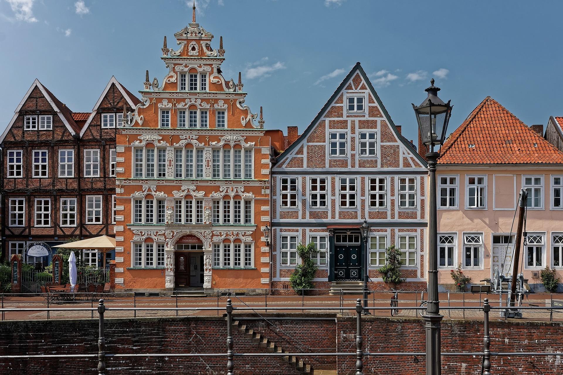 Eines der besten Hamburg Ausflüge ist Stade mit den Fachwerkhäusern
