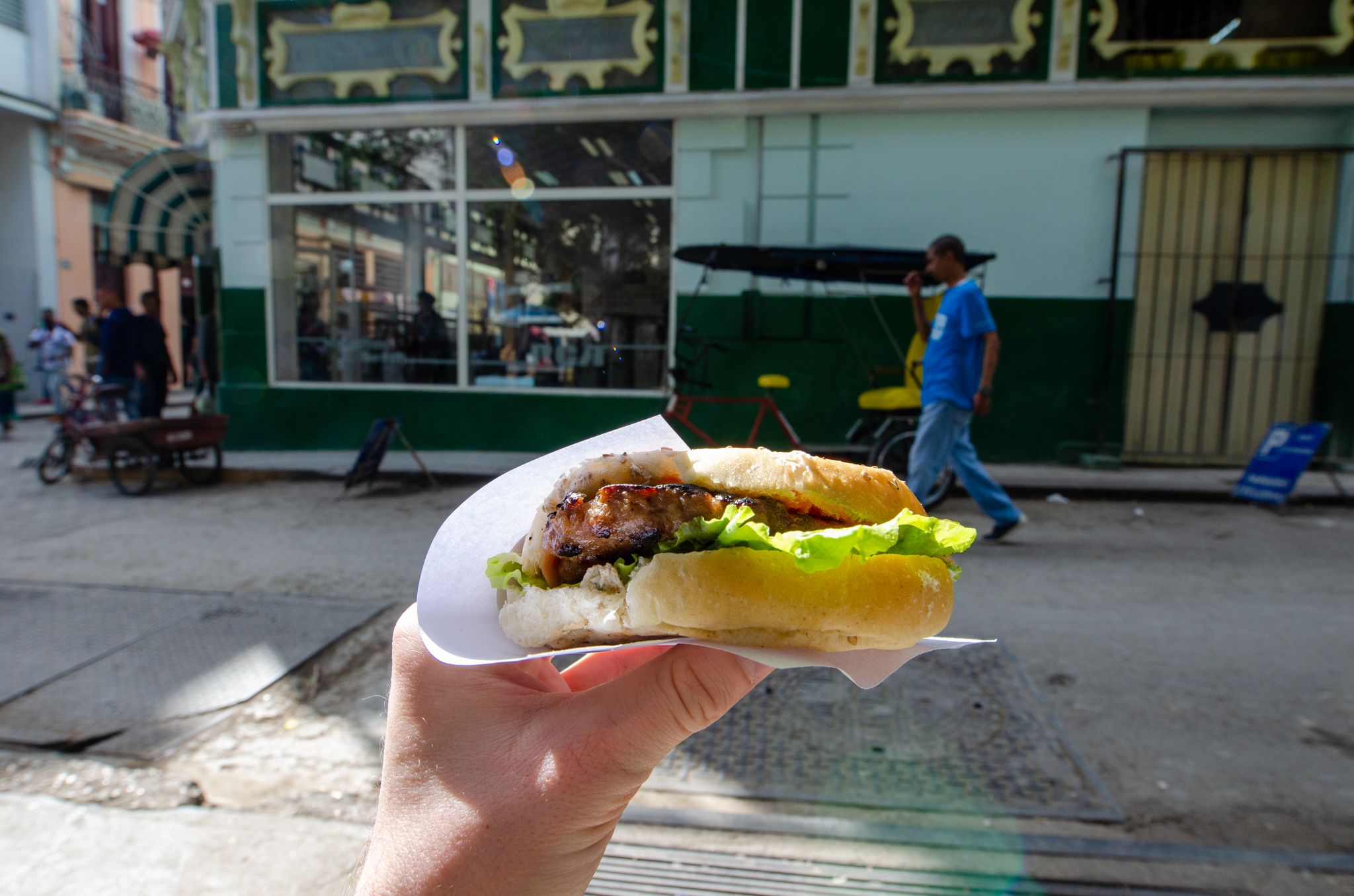Burger in Kuba