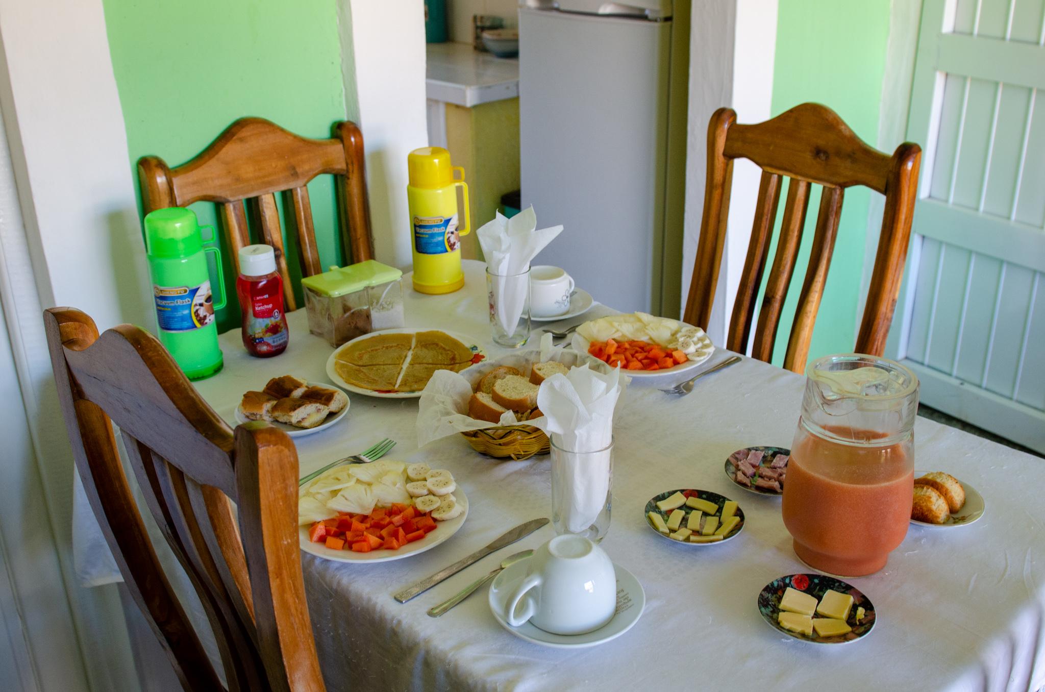 Typisches Frühstück in Kuba