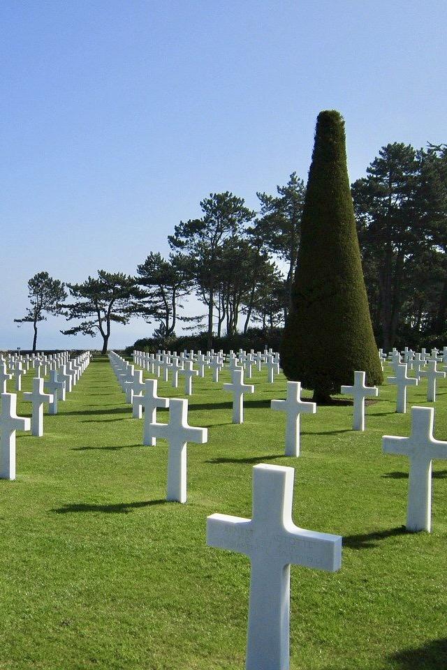 Berühmte Kreuze am Omaha Beach