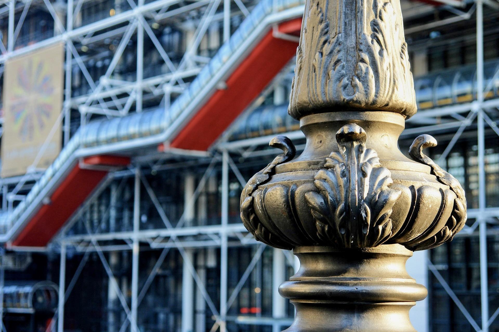 Eine der bekannte Paris Sehenswürdigkeiten: das Centre Pompidou