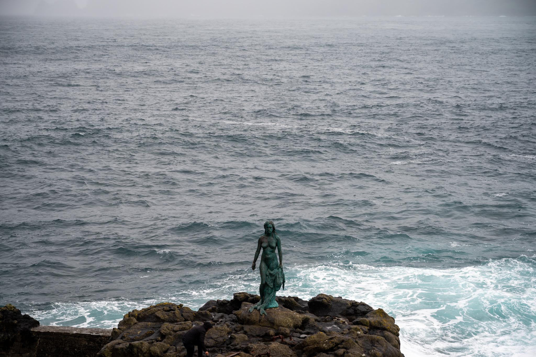 Robbenfrau auf der Insel Kalsoy