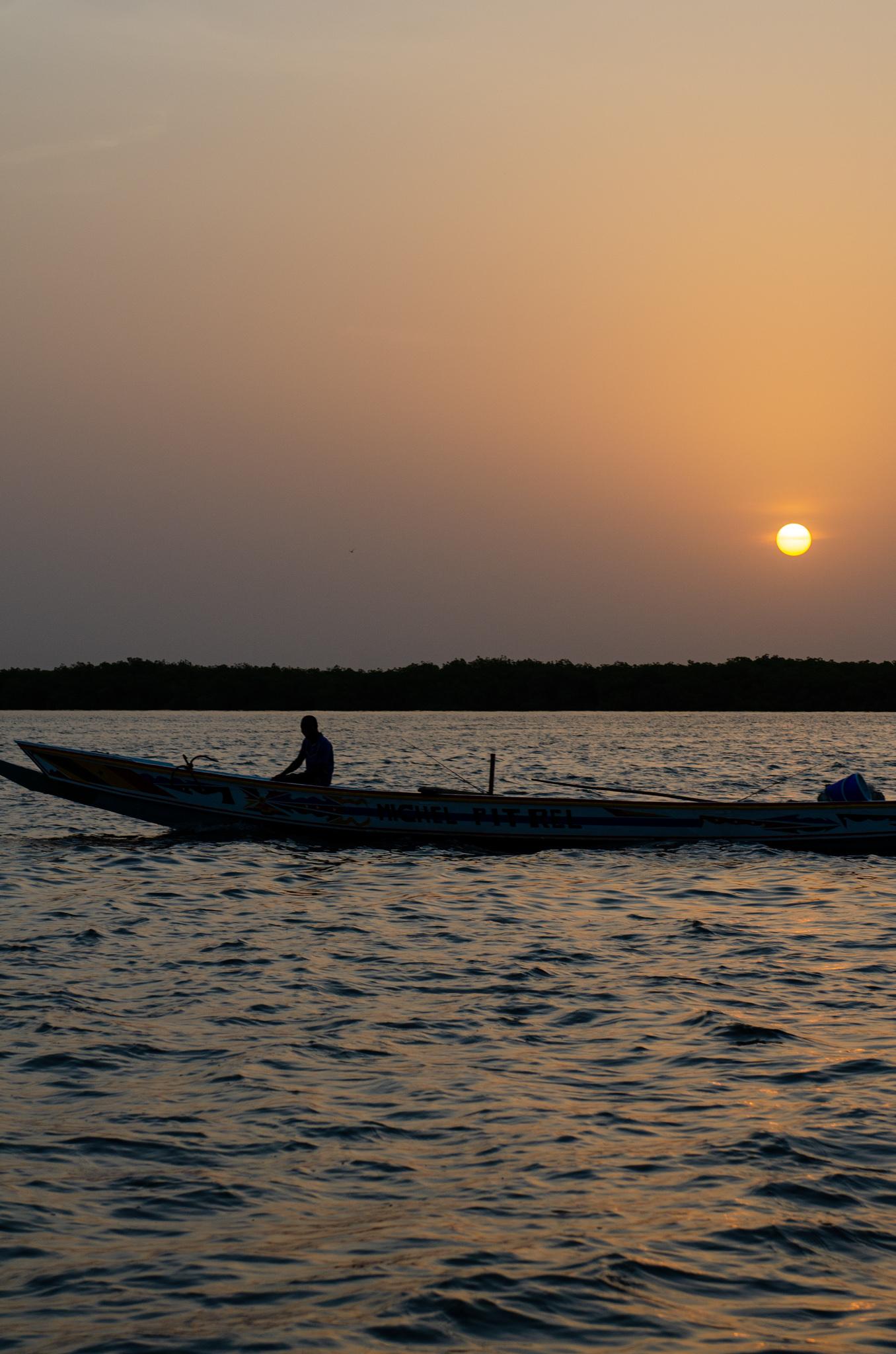 Sonnenuntergang im Sine Saloum Delta