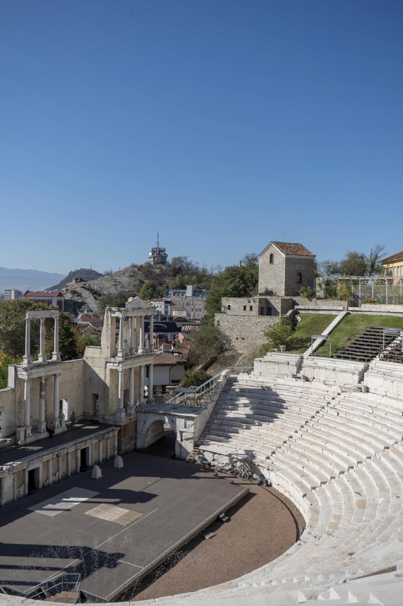 Plovdiv in Bulgarien mit dem Theater als besonderer Städtetrip in Europa