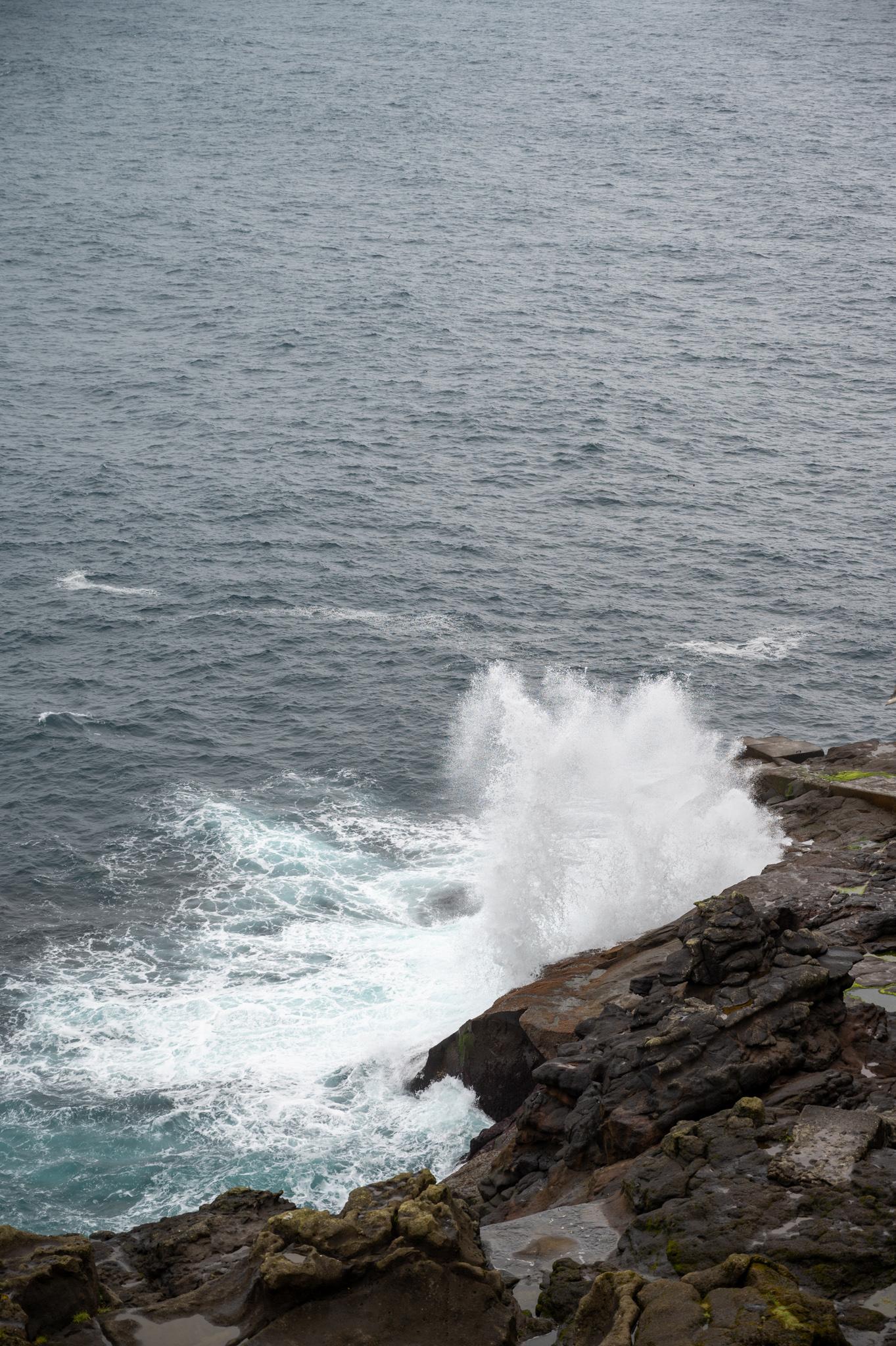 Wellen auf der Insel Kalsoy