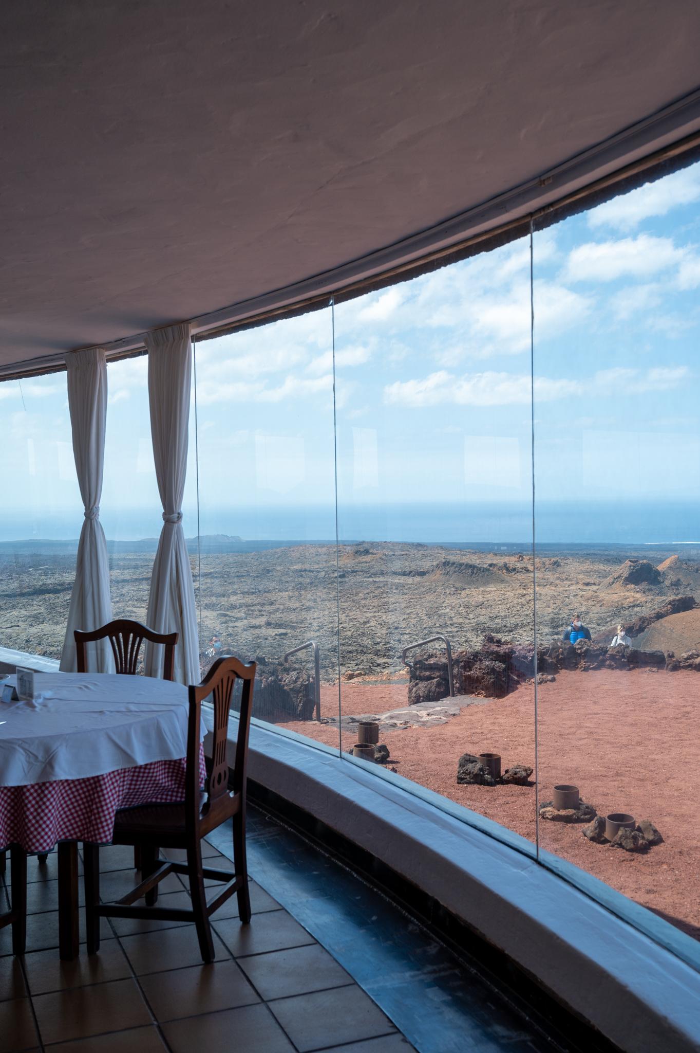 Ausblick Timanfaya auf Lanzarote